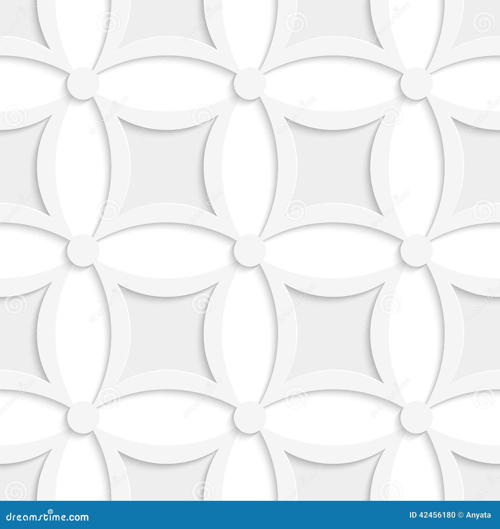 Geometrisches weißes und graues Muster mit spitzen Quadraten