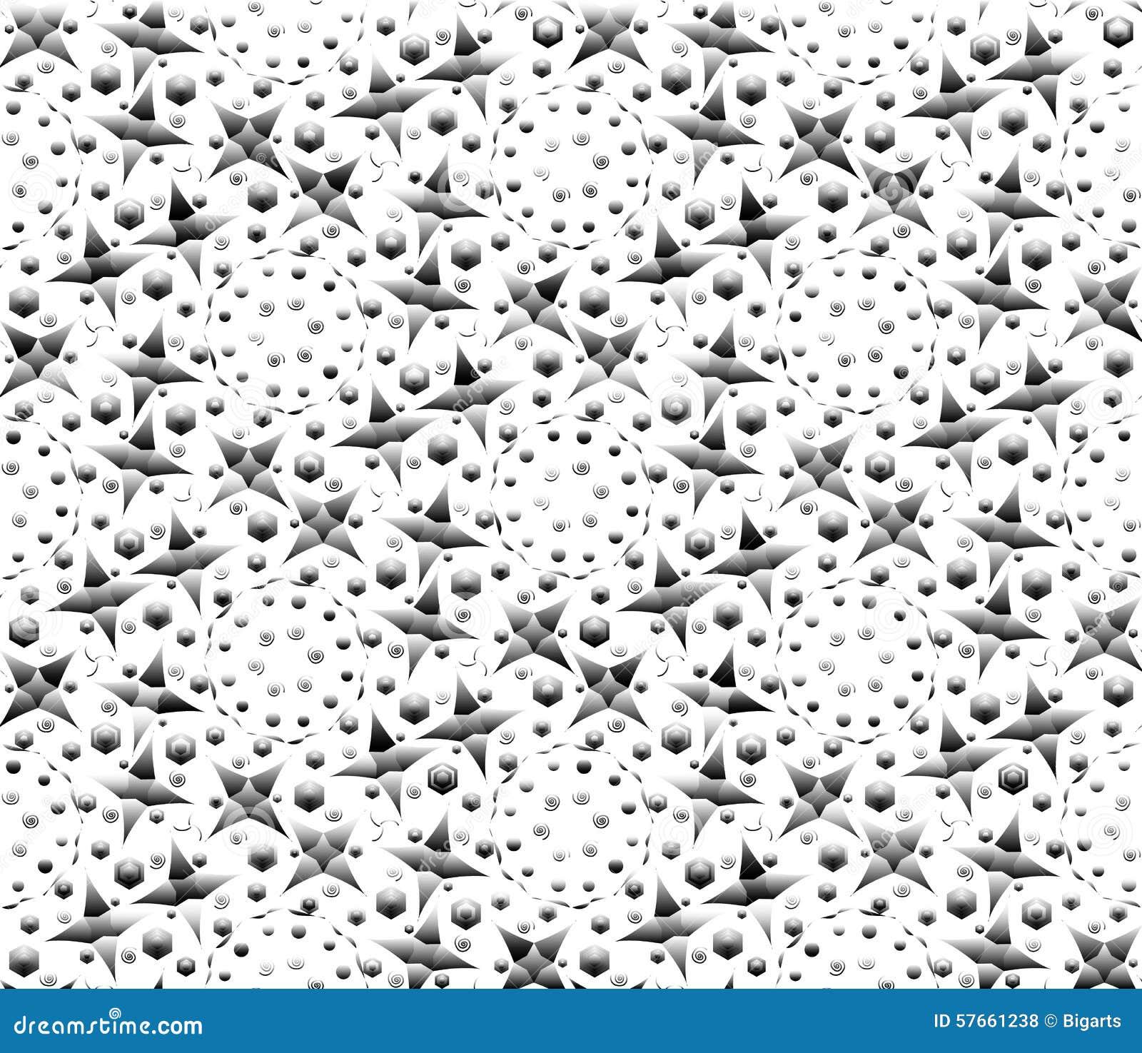 Geometrisk abstrakt bakgrund av flätade samman trianglar, diamanter och fyrkanter i grå skala också vektor för coreldrawillustrat