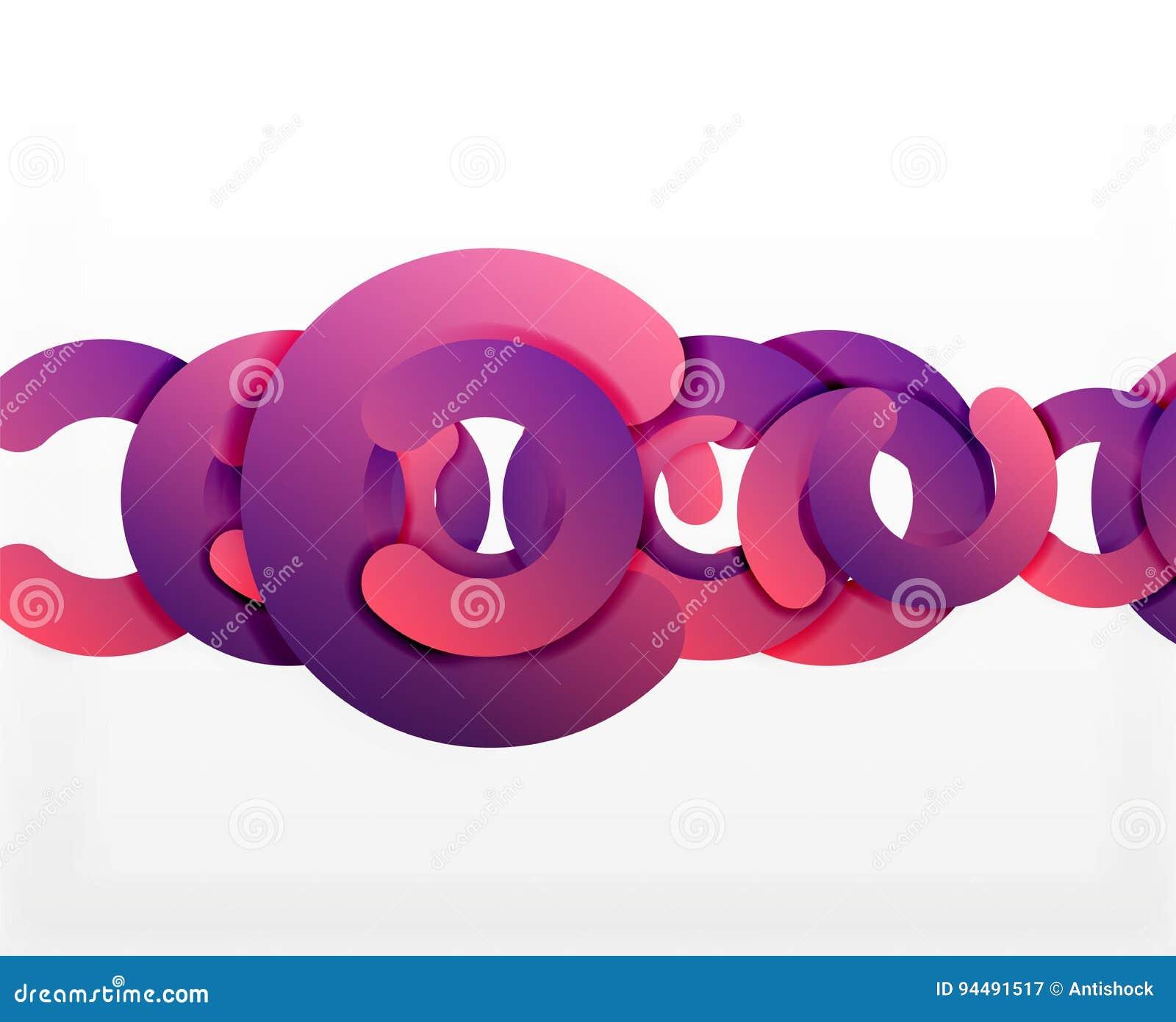 Geometrisk abstrakt bakgrund för cirkel, färgrik affär eller teknologidesign för rengöringsduk