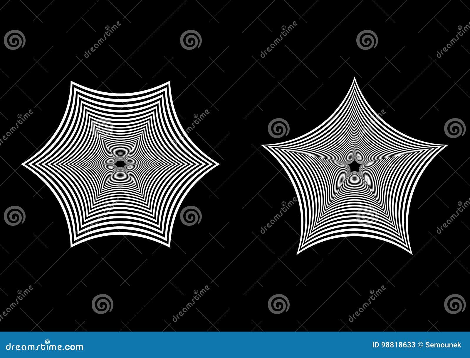 Geometrisk abstrakt svartvit bakgrund