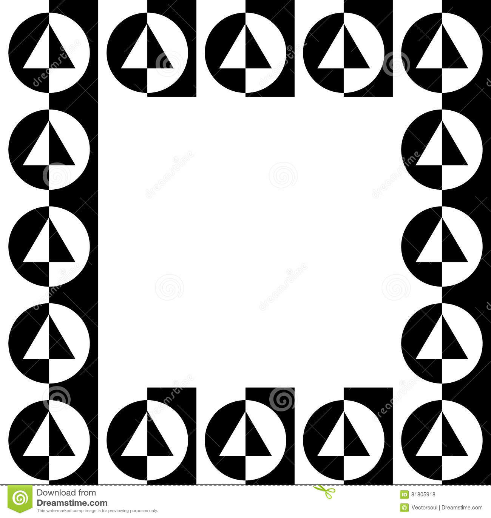 Geometrisk bild, fotoram i squarish format
