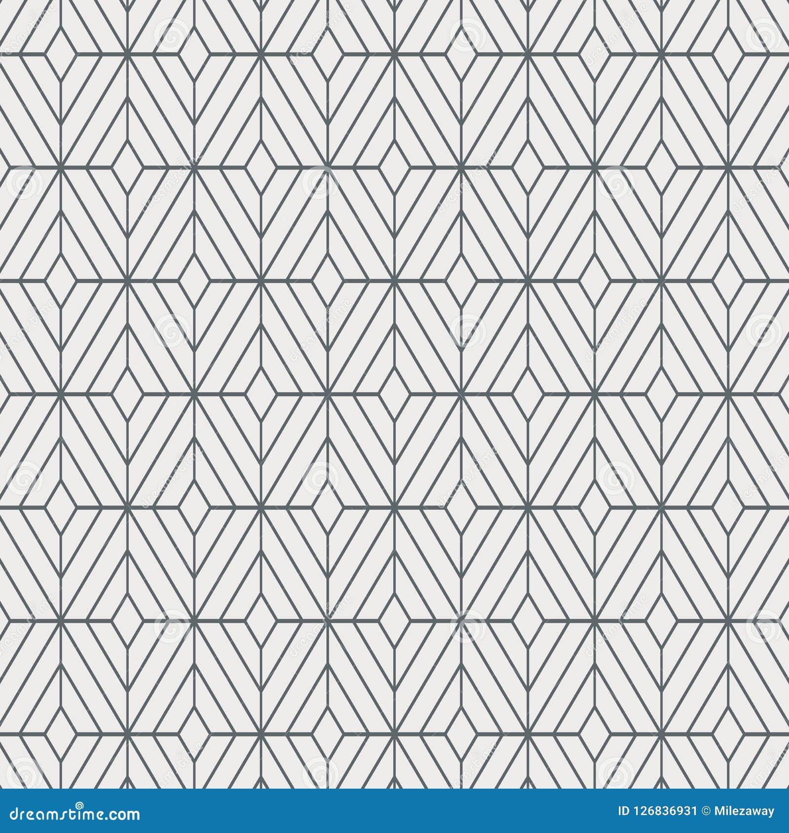 Geometrisk dekorvektormodell som upprepar fyrkantig diamantform, stilfull monokrom