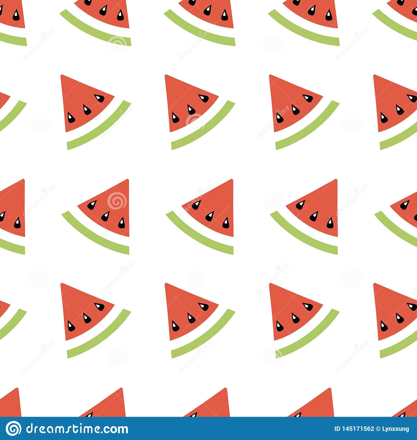 Geometrisk illustration för sömlös abstrakt modell med melon, sommartapeten för textilen som skrivar ut eller bakgrund, baner