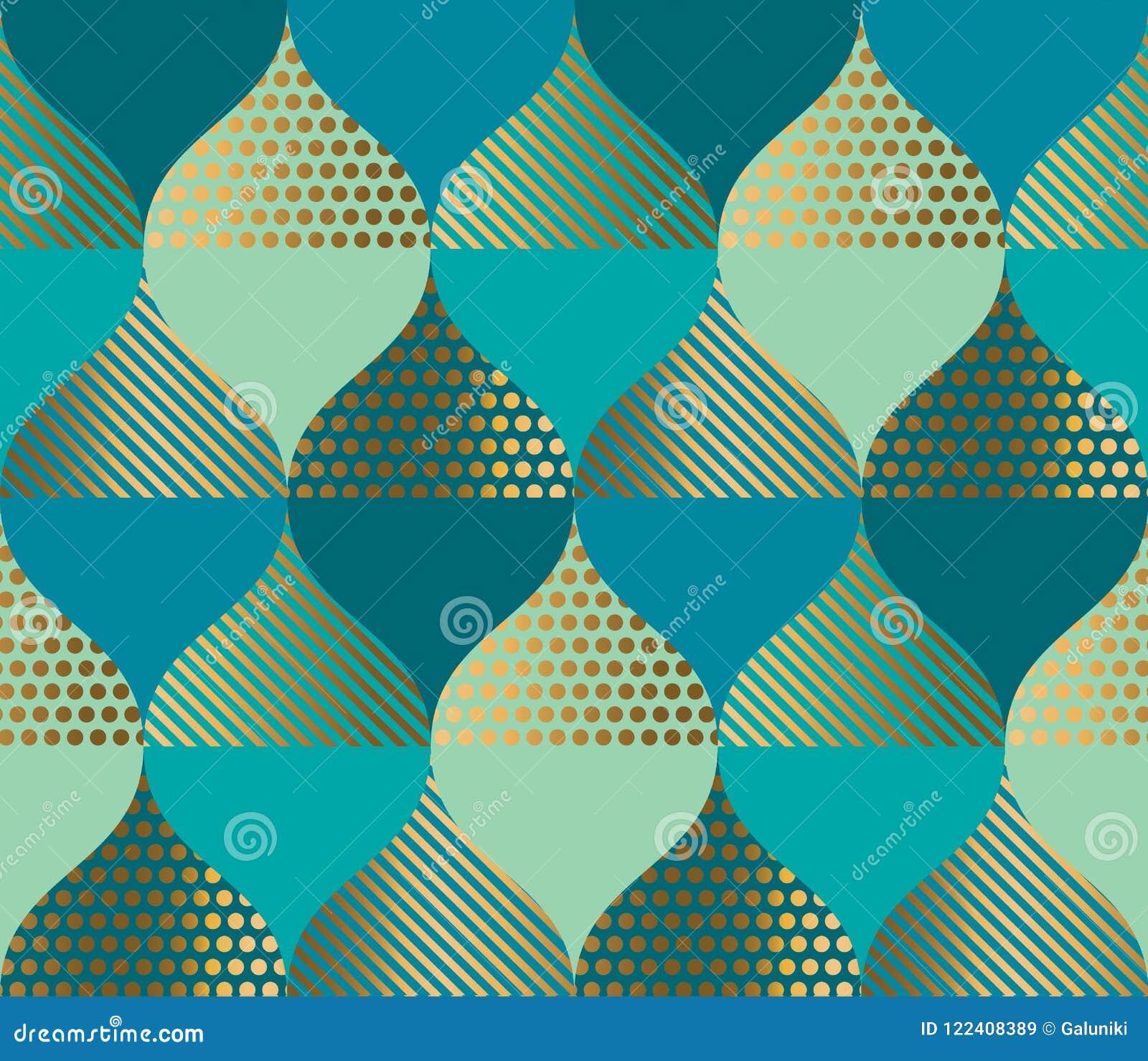 Geometrisk kurva och orientalisk lyxig sömlös modell
