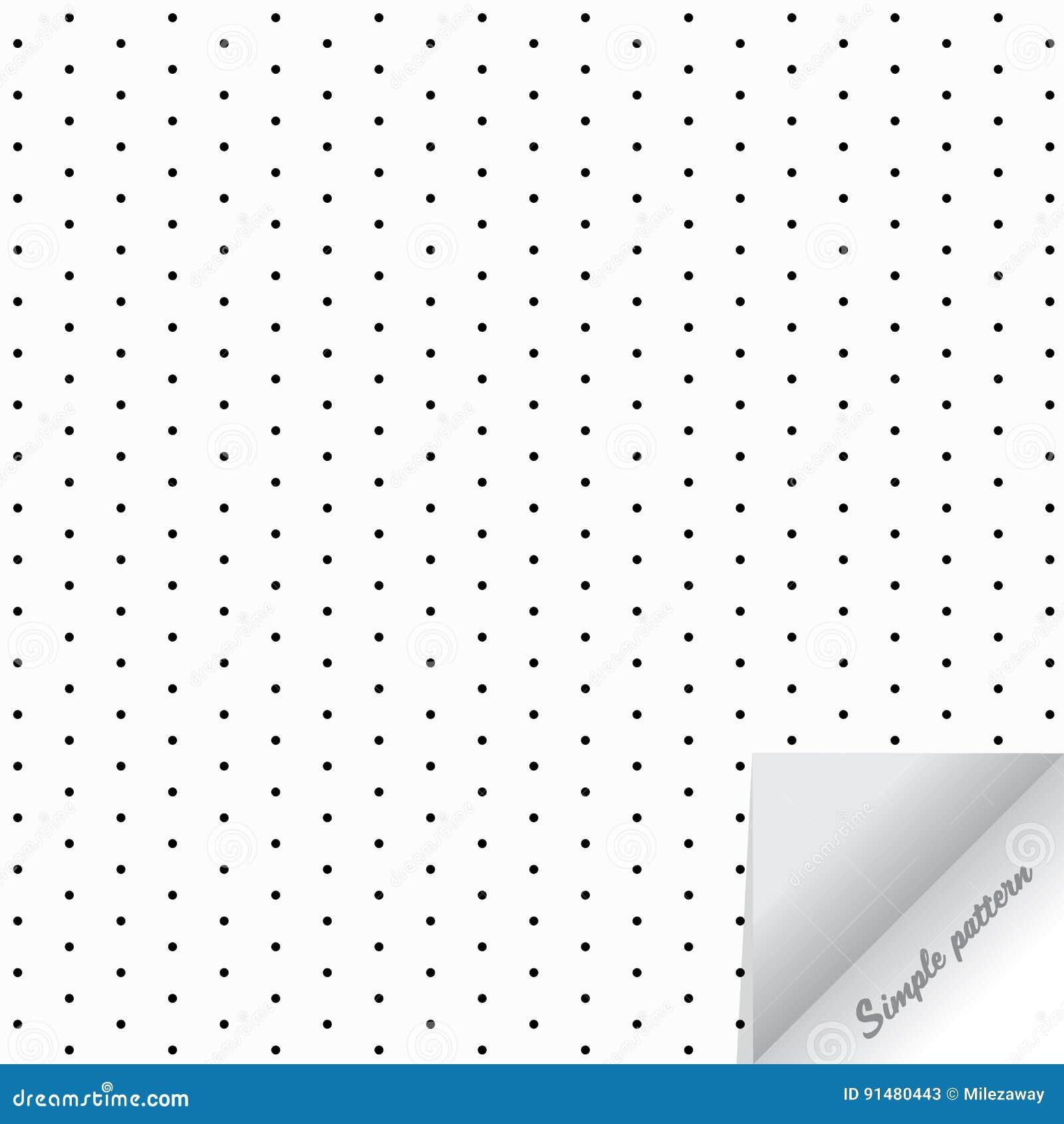 Geometrisk prucken vektormodellrepetition, cirkel, grå prick på vit bakgrund med realistisk pappers- flip