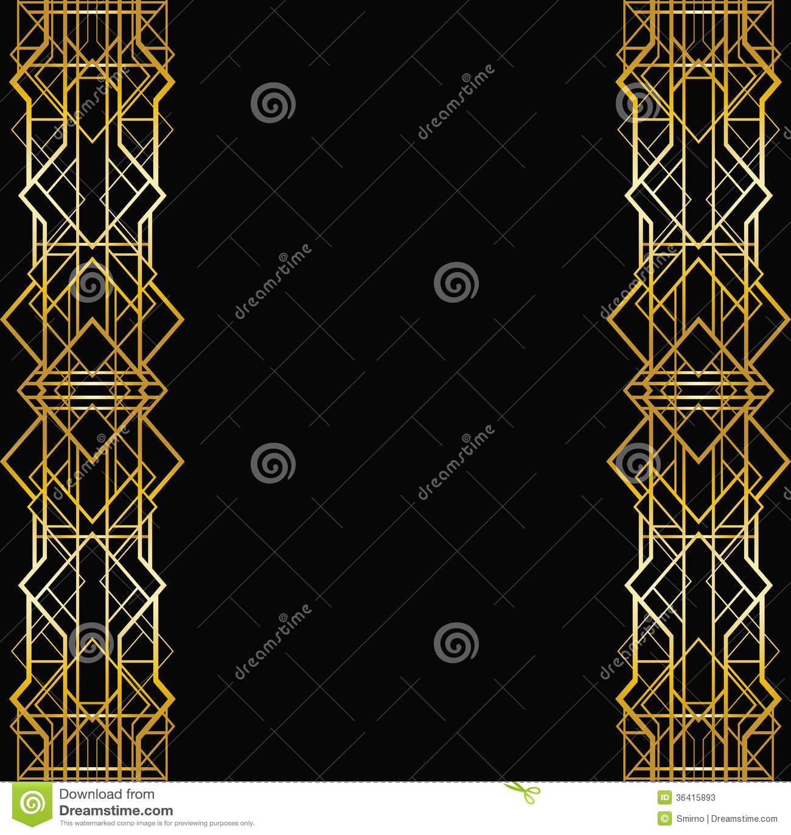 Geometrisk ram för art déco