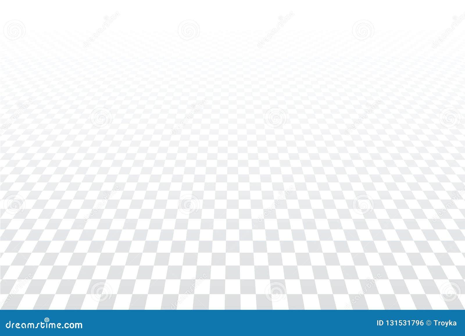 Geometrisk rutig modell Vit texturerad bakgrund Minska perspektivsikt