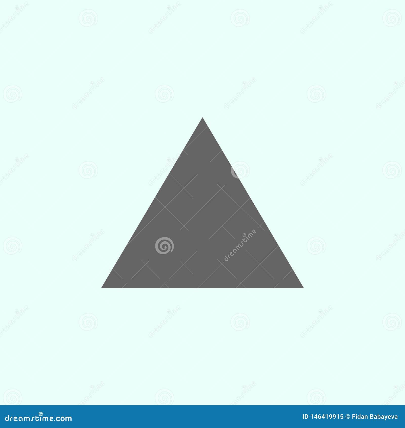 Geometriska diagram, triangelsymbol Best?ndsdelar av geometriska diagram illustrationsymbol Tecknet och symboler kan anv?ndas f?r