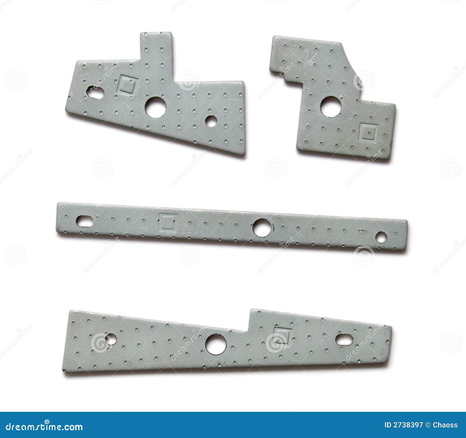 Geometriska metalldelar för apparat