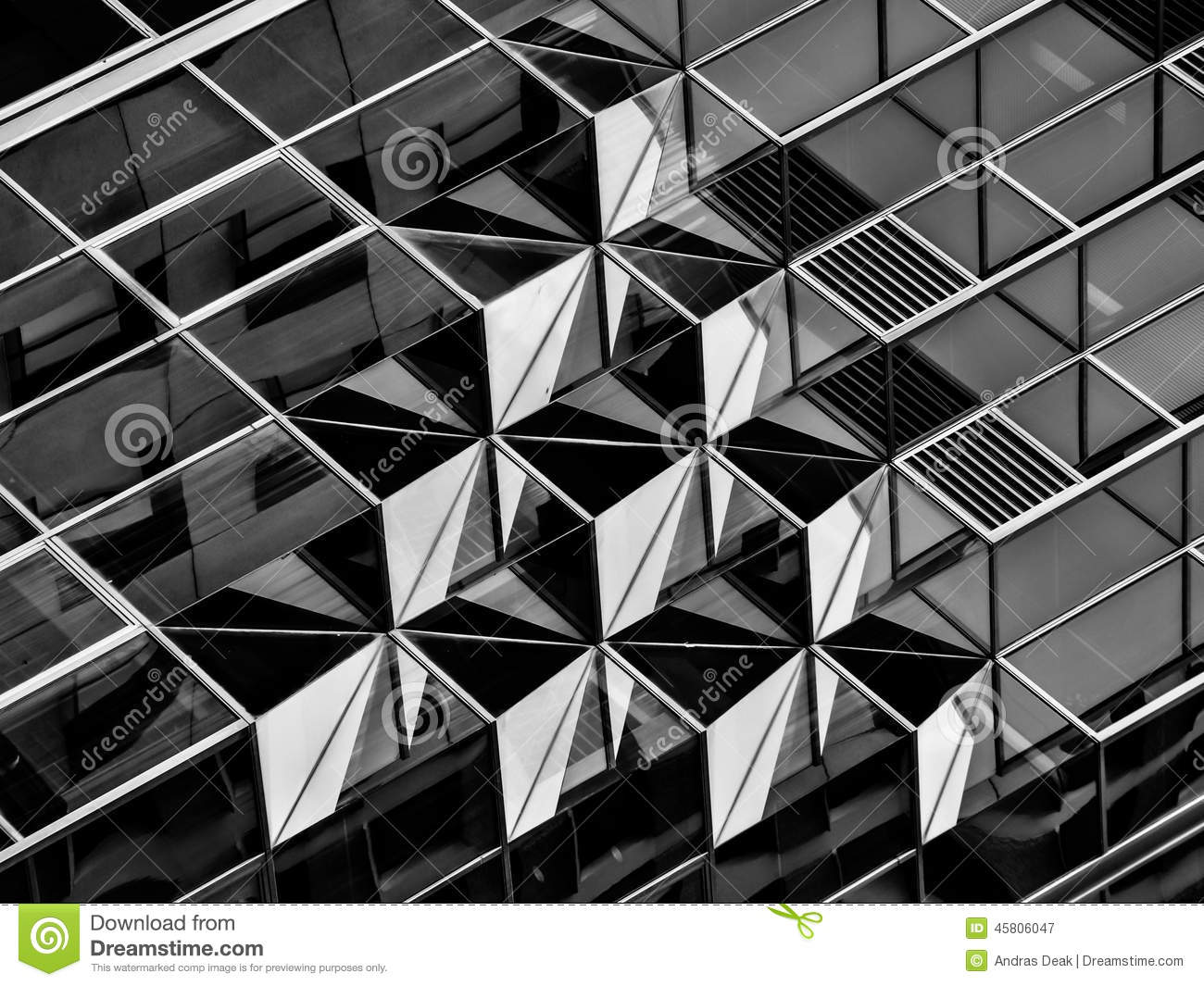 Geometry in architecture in black and white detail stock for Architecture graphique