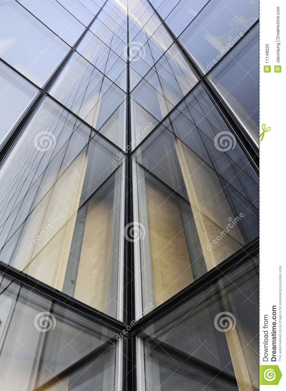 Geometry Architecture Of Modern Office Building Stock