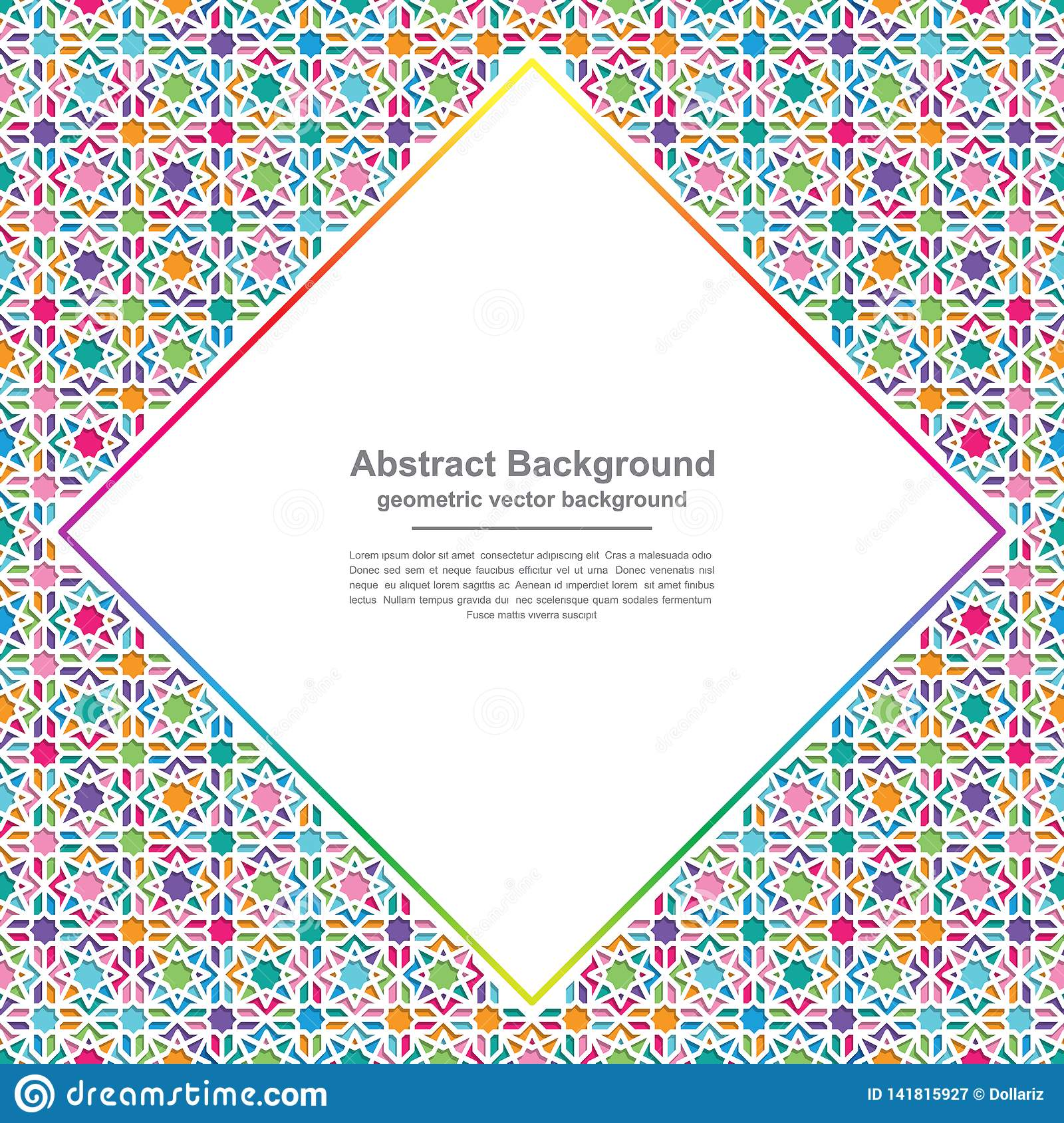 Geometry backgrounds with modern colorful combinations with blank spaces in the middle for your text. Eps10 vector background