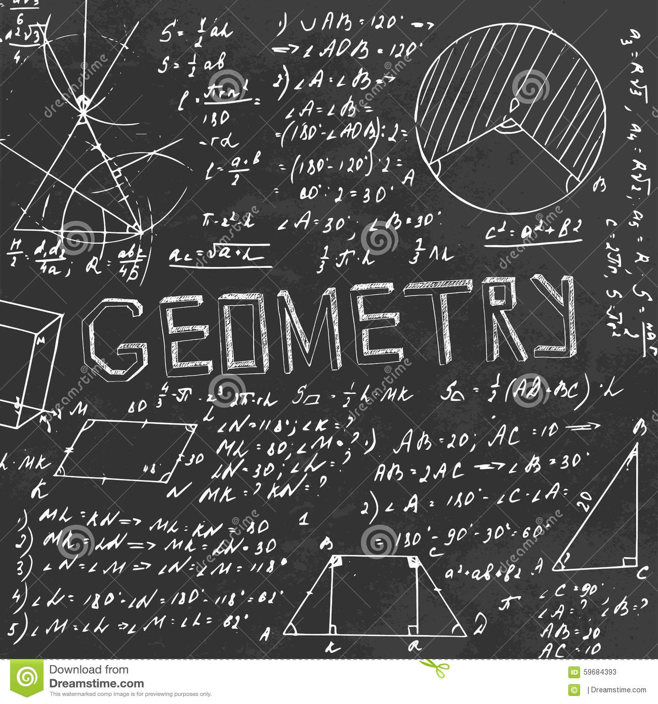geometry blackboard stock photo image 59684393