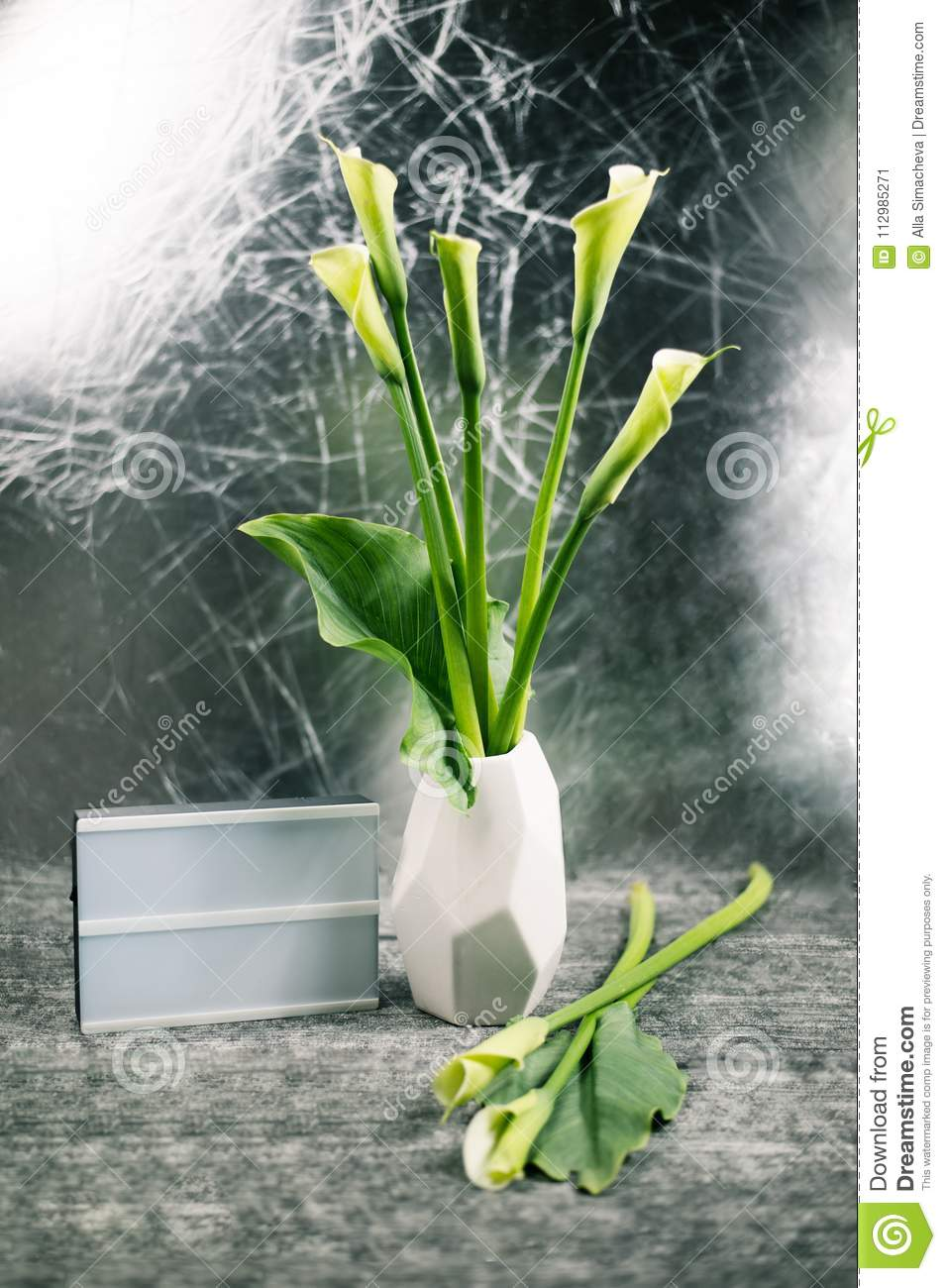 Calla flowers in a vase