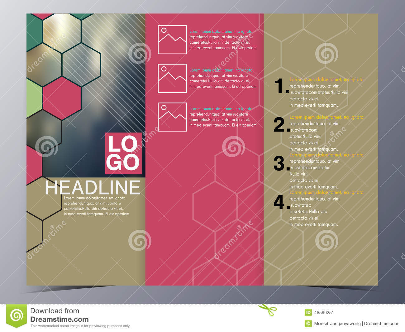 product pamphlet template