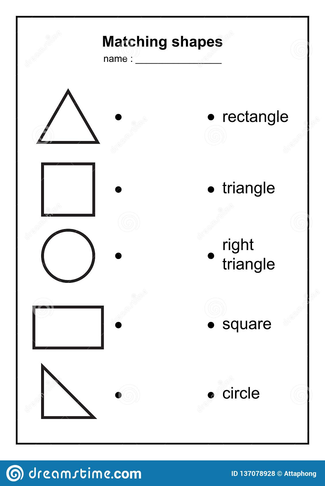 Geometry Shape Matching Game. Educational Geometric Shapes ...