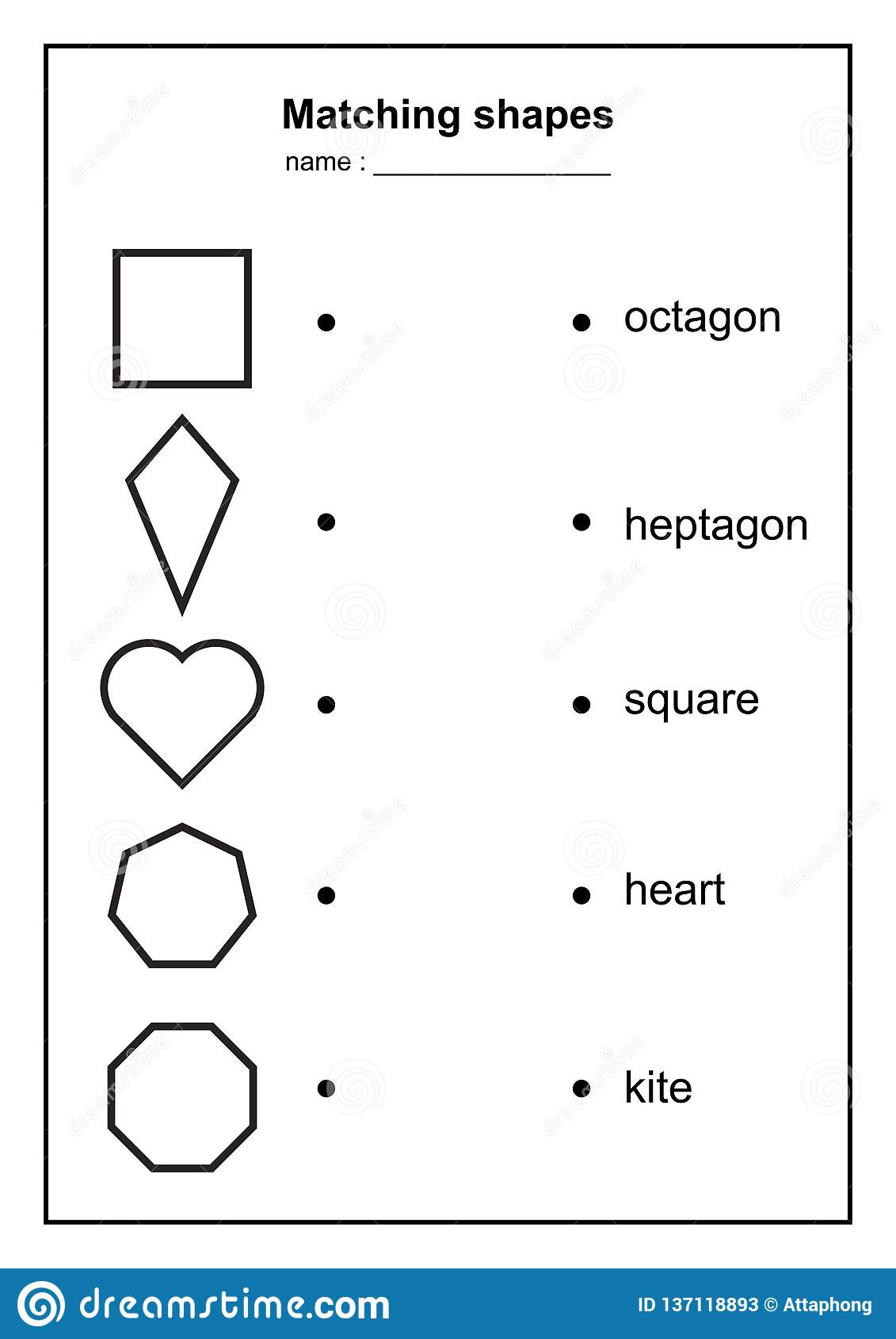 Geometry Shape Matching Game. Educational Geometric Shapes ...