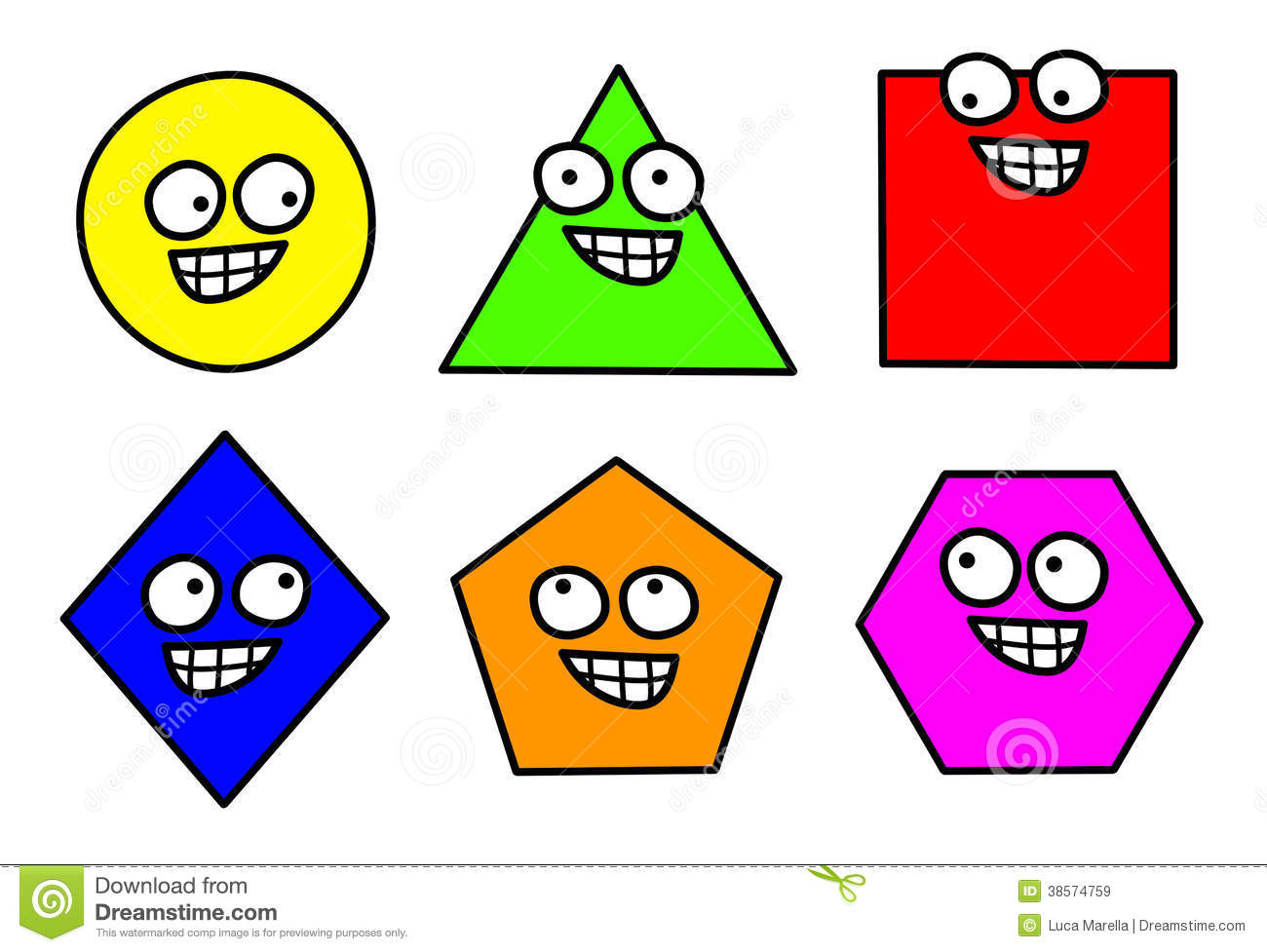 Cartoon Characters Using Shapes : Geometry shapes clipart stock illustration