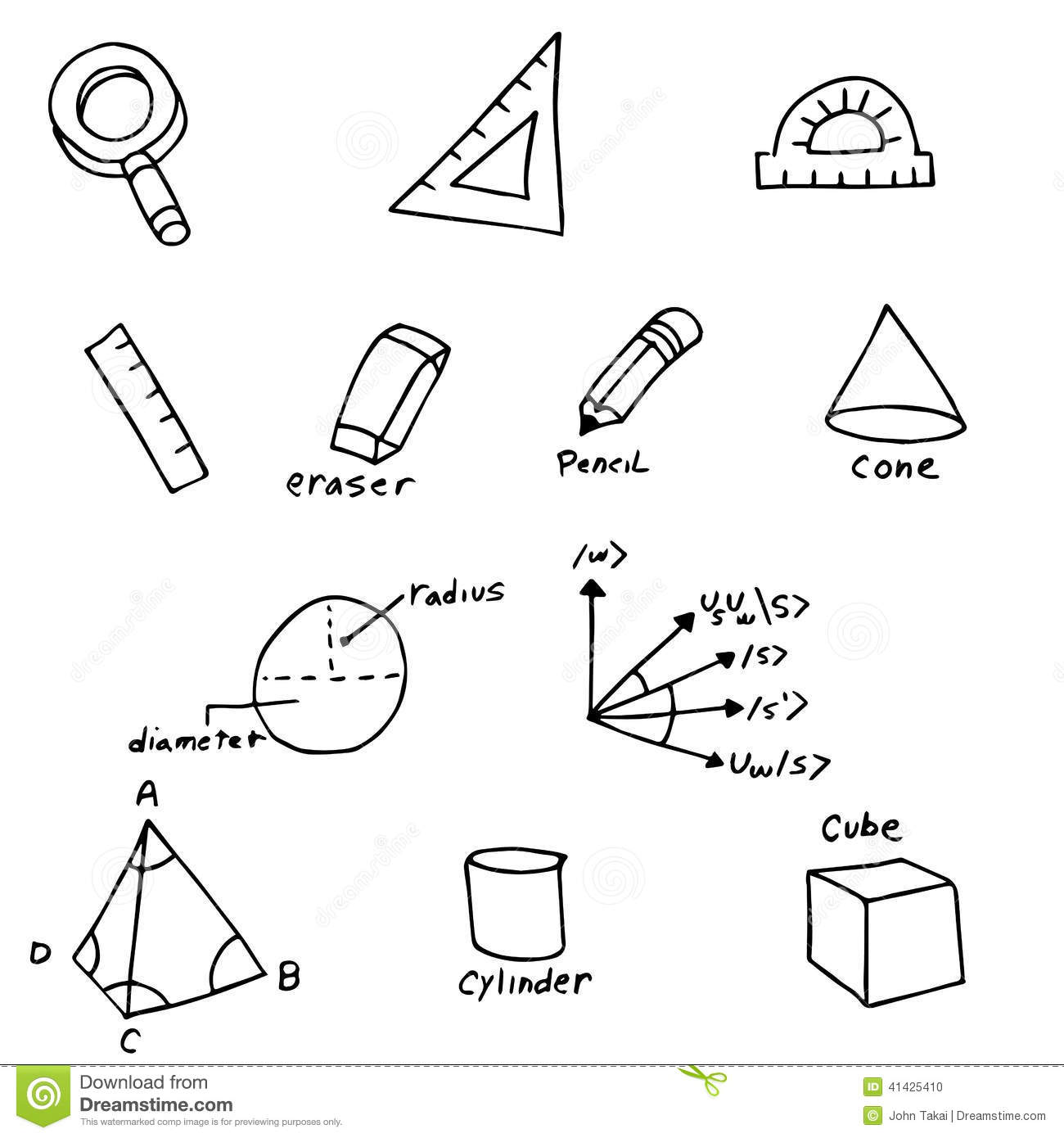 Geometry symbols stock vector illustration of eraser 41425410 geometry symbols buycottarizona