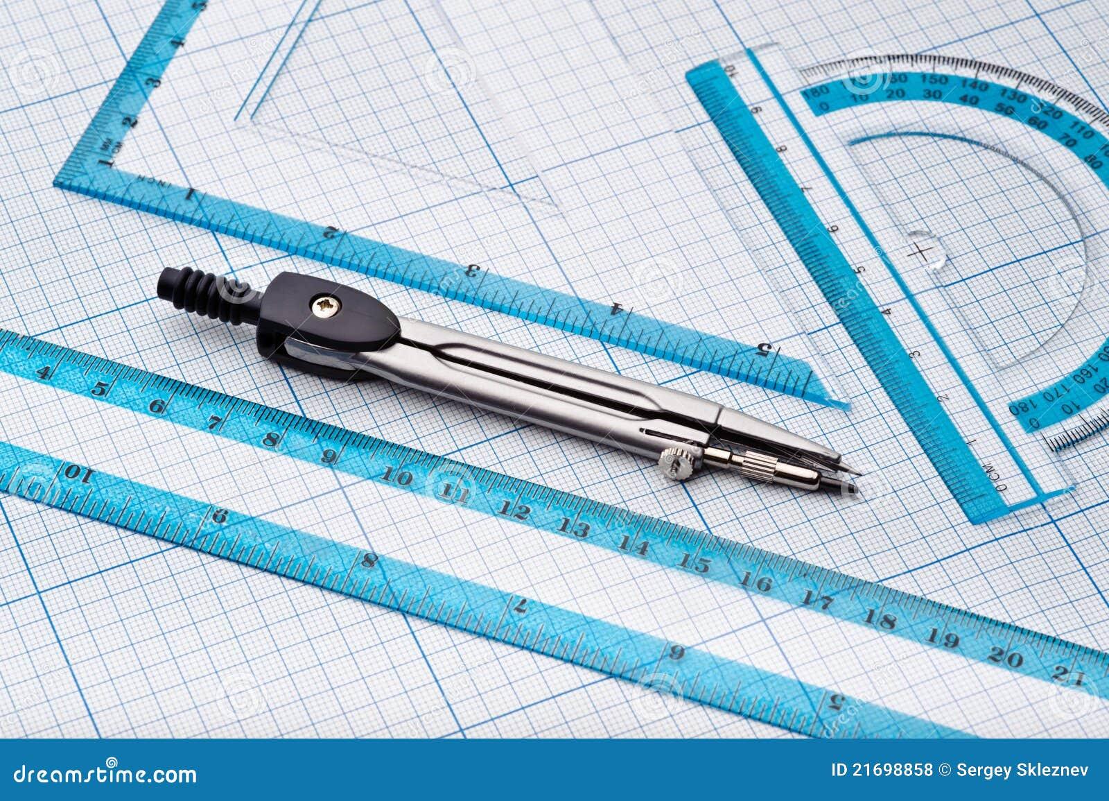 geometry tools stock photo  image of ruler  tool  equipment