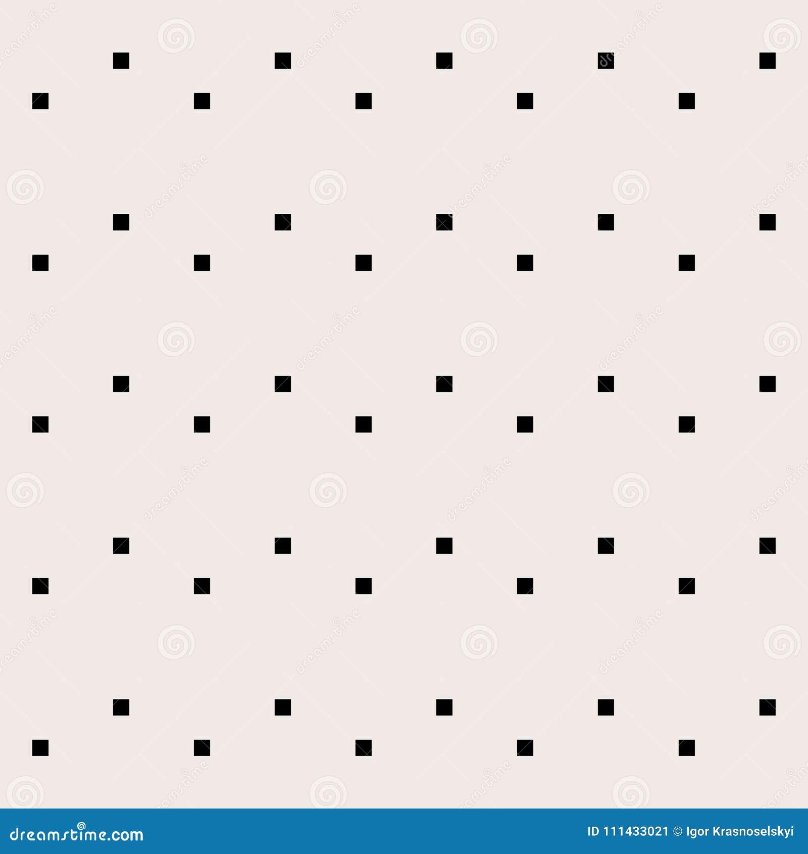 Geometryczna ilustracja Czarni kwadraty na szarym tle abstrakcjonistycznego tła ilustraci wzoru bezszwowy wektor