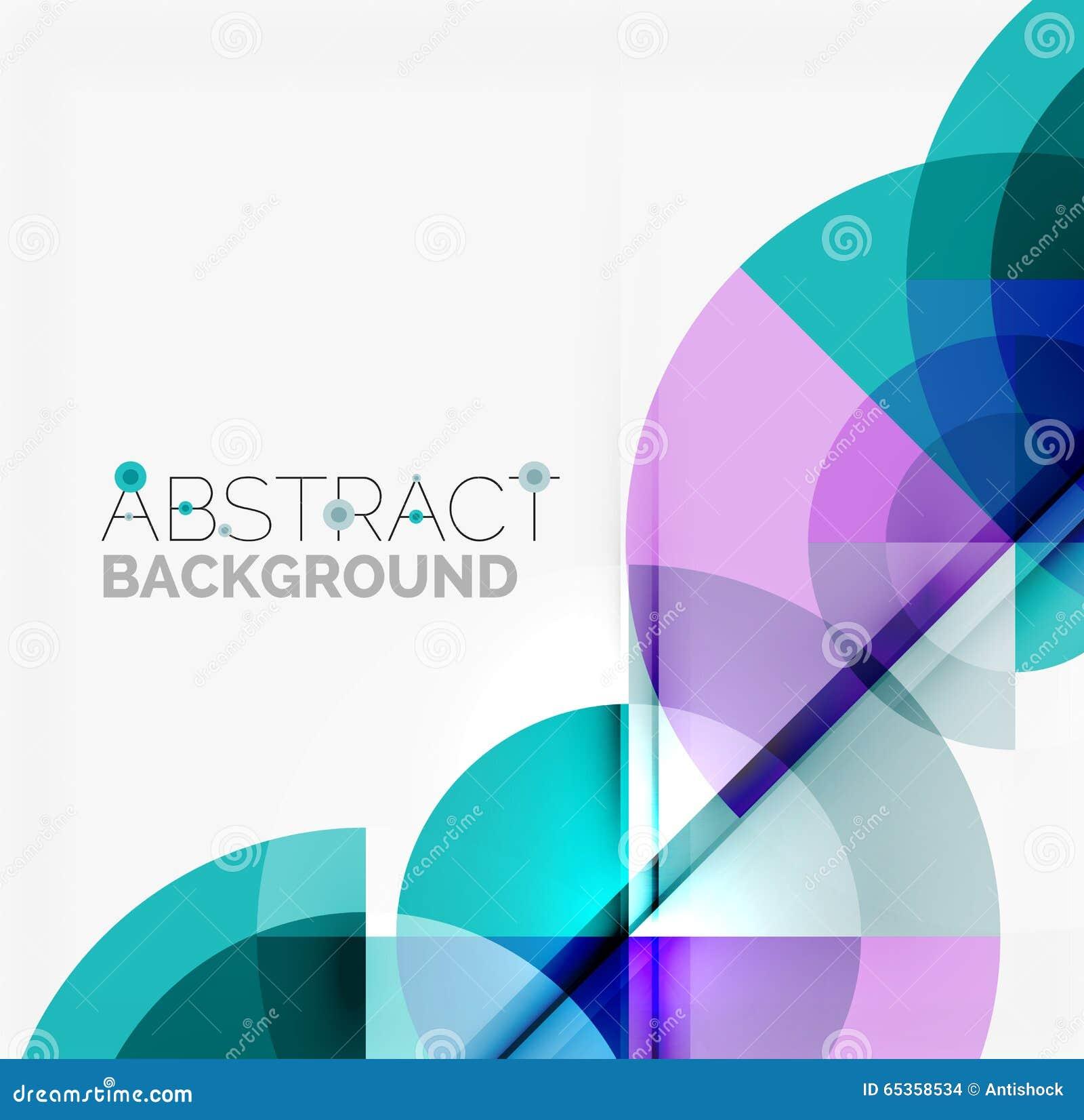 Geometrycznego projekta abstrakcjonistyczny tło - okręgi