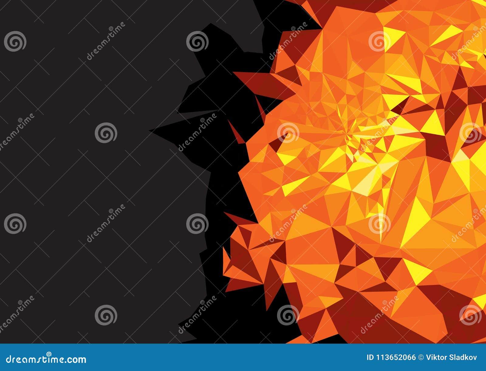 Geometryczny żółty czerwony jaskrawy tło