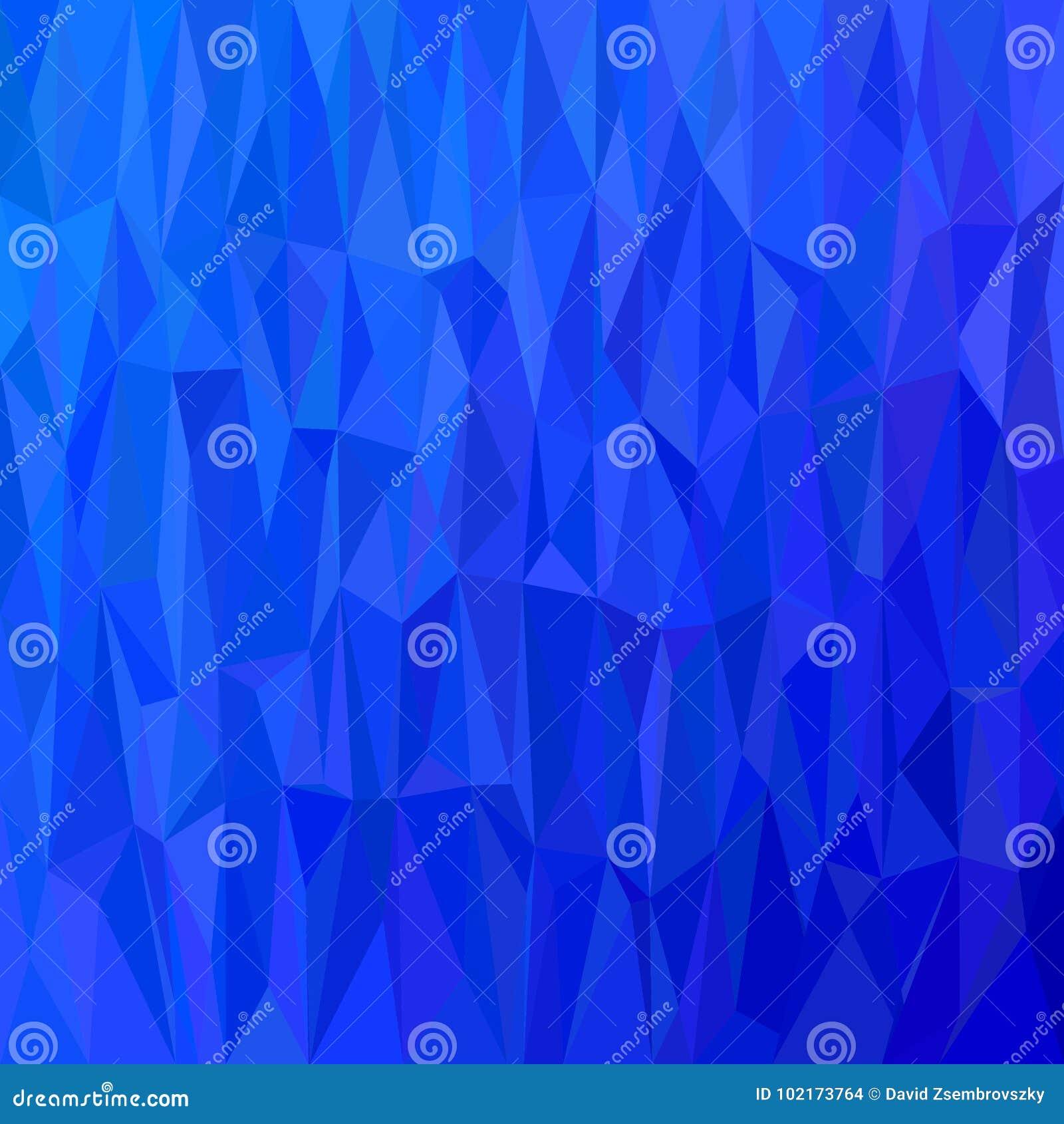 Geometryczny abstrakcjonistyczny trójboka wzoru tło - wielobok mozaiki wektorowa ilustracja od trójboków w błękitnych brzmieniach