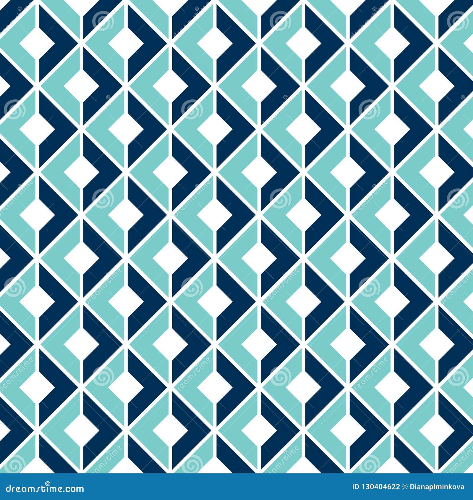 Geometryczny Bezszwowy wzór z 3D Okulistycznym złudzeniem