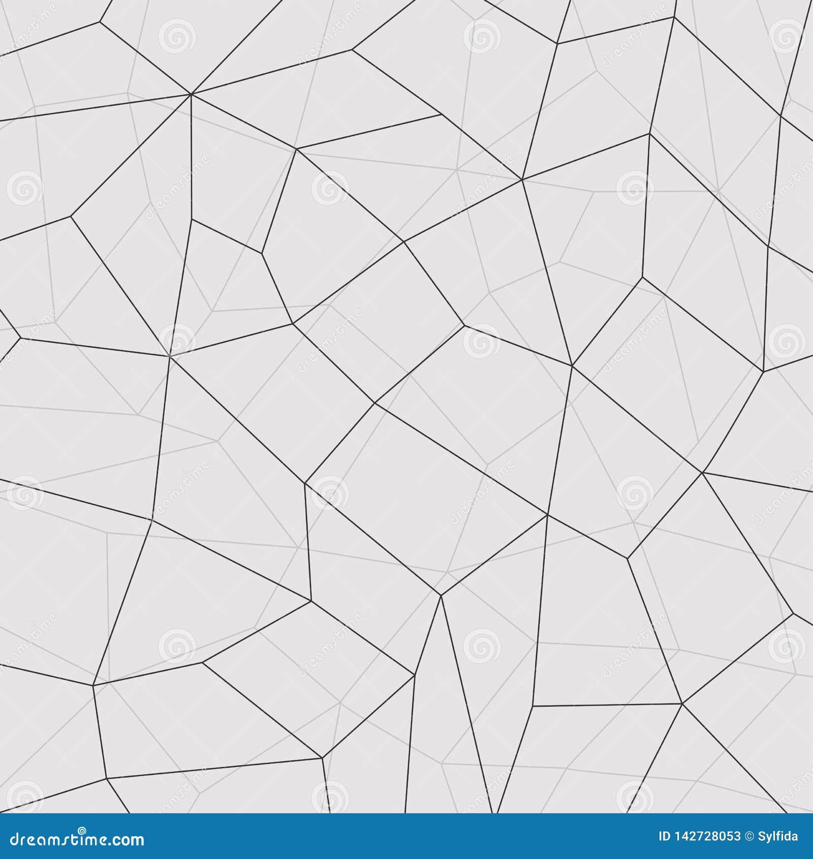 Geometryczny mozaiki tło, łączy linie również zwrócić corel ilustracji wektora