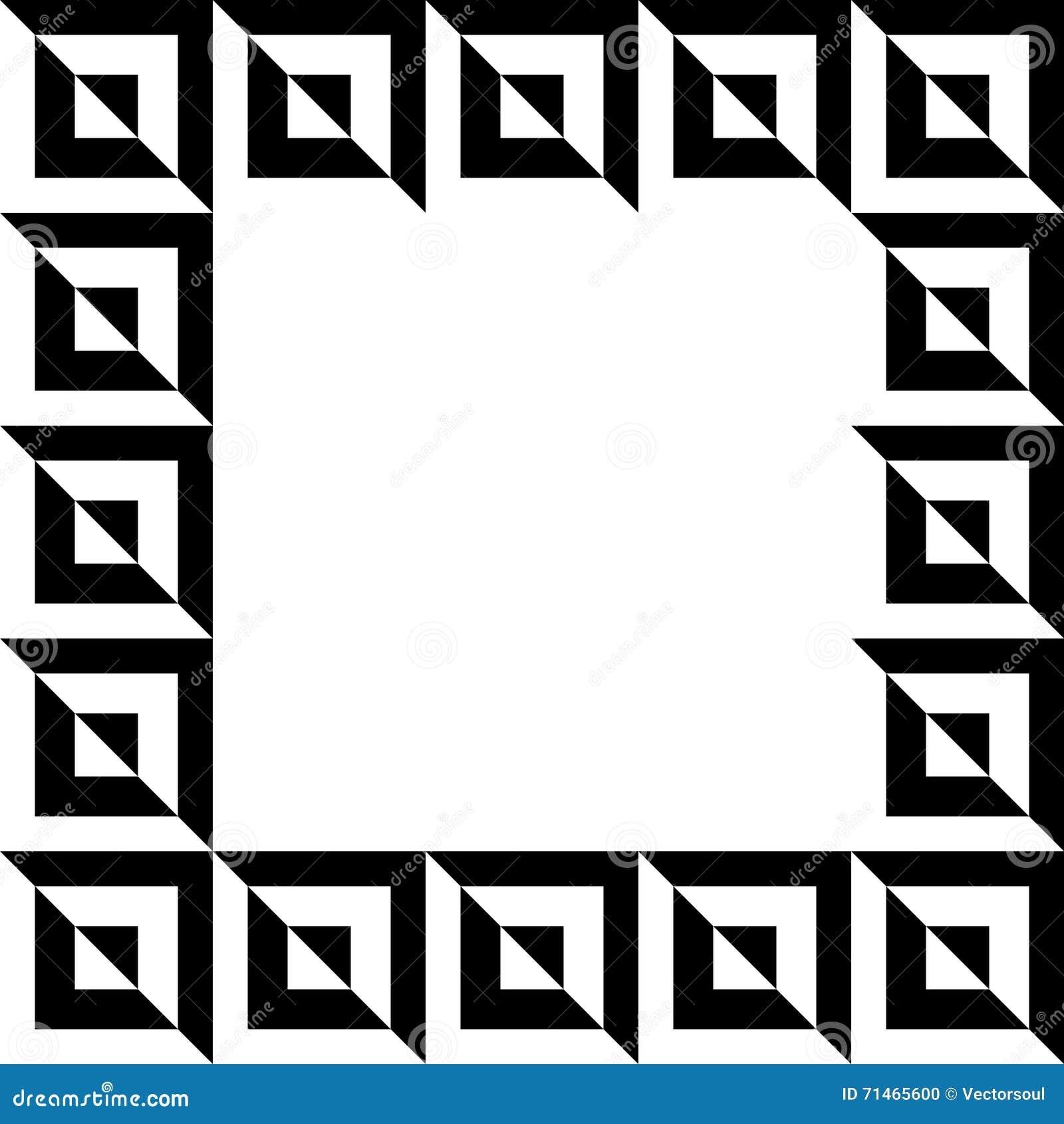 Geometryczny obrazek, fotografii rama w squarish formacie