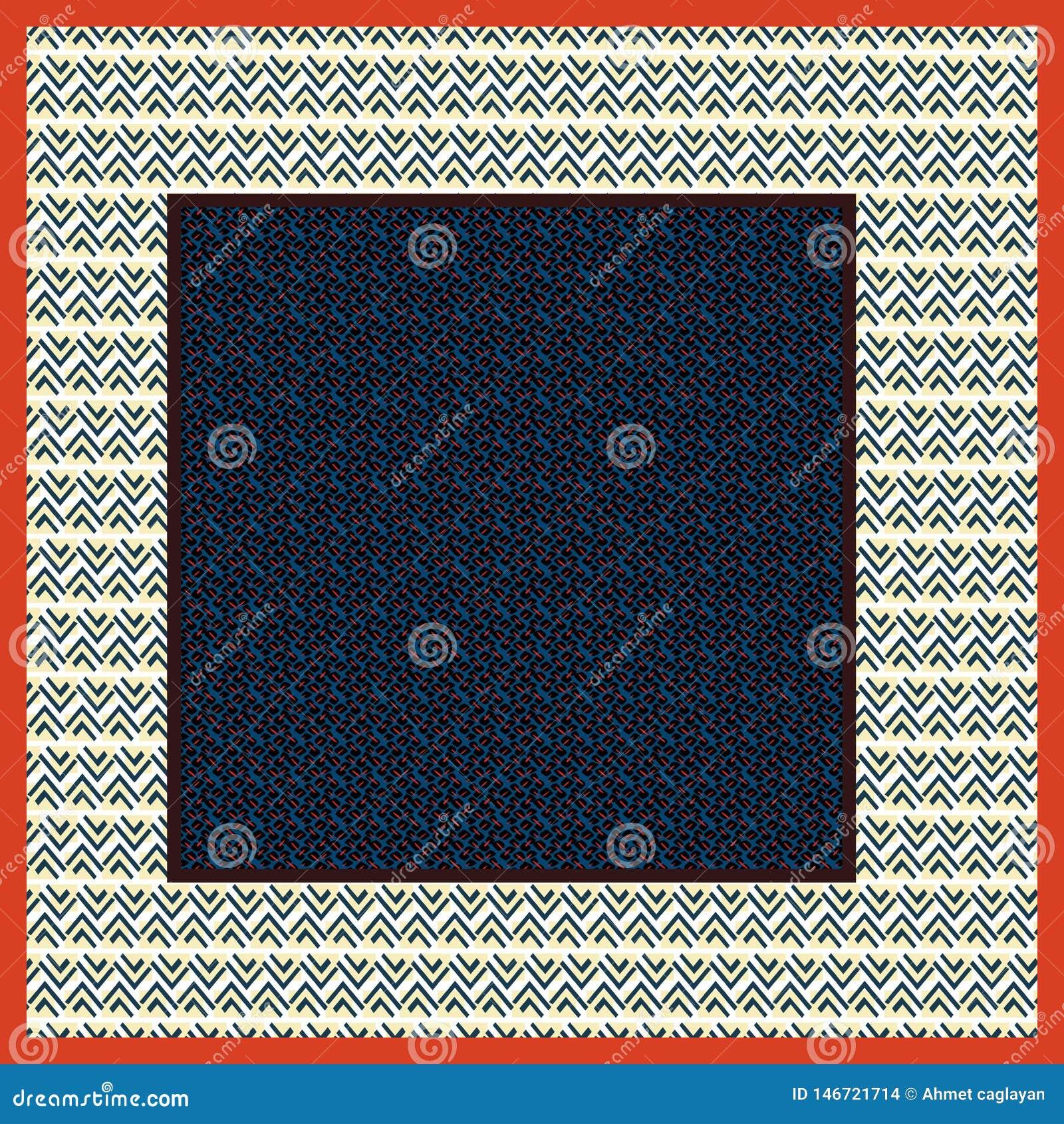 Geometryczny szalika wzór