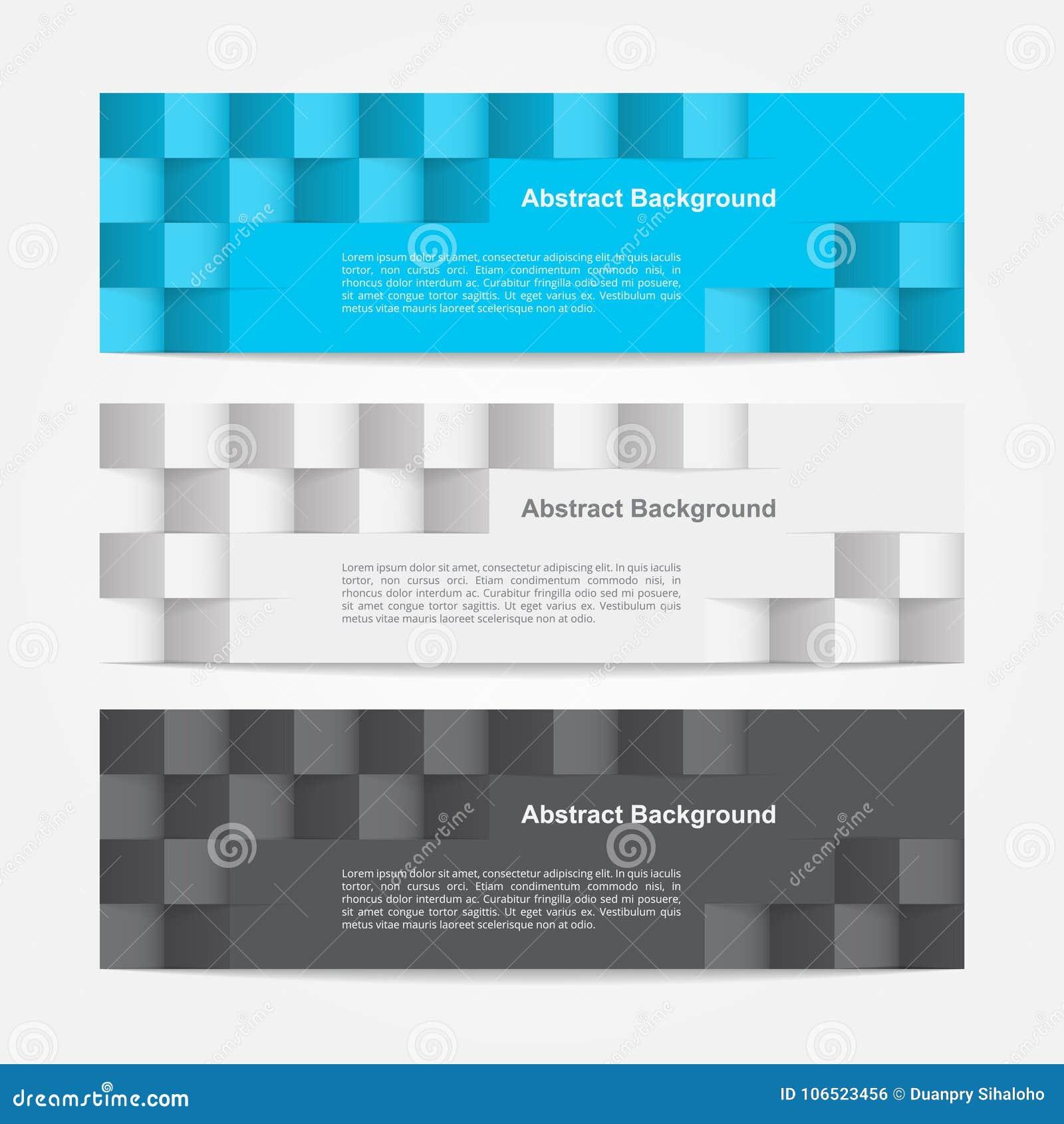 Geometryczny sztandaru szablonu ilustrator