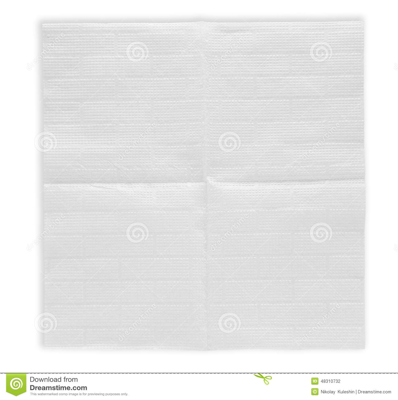 Geopend document servet