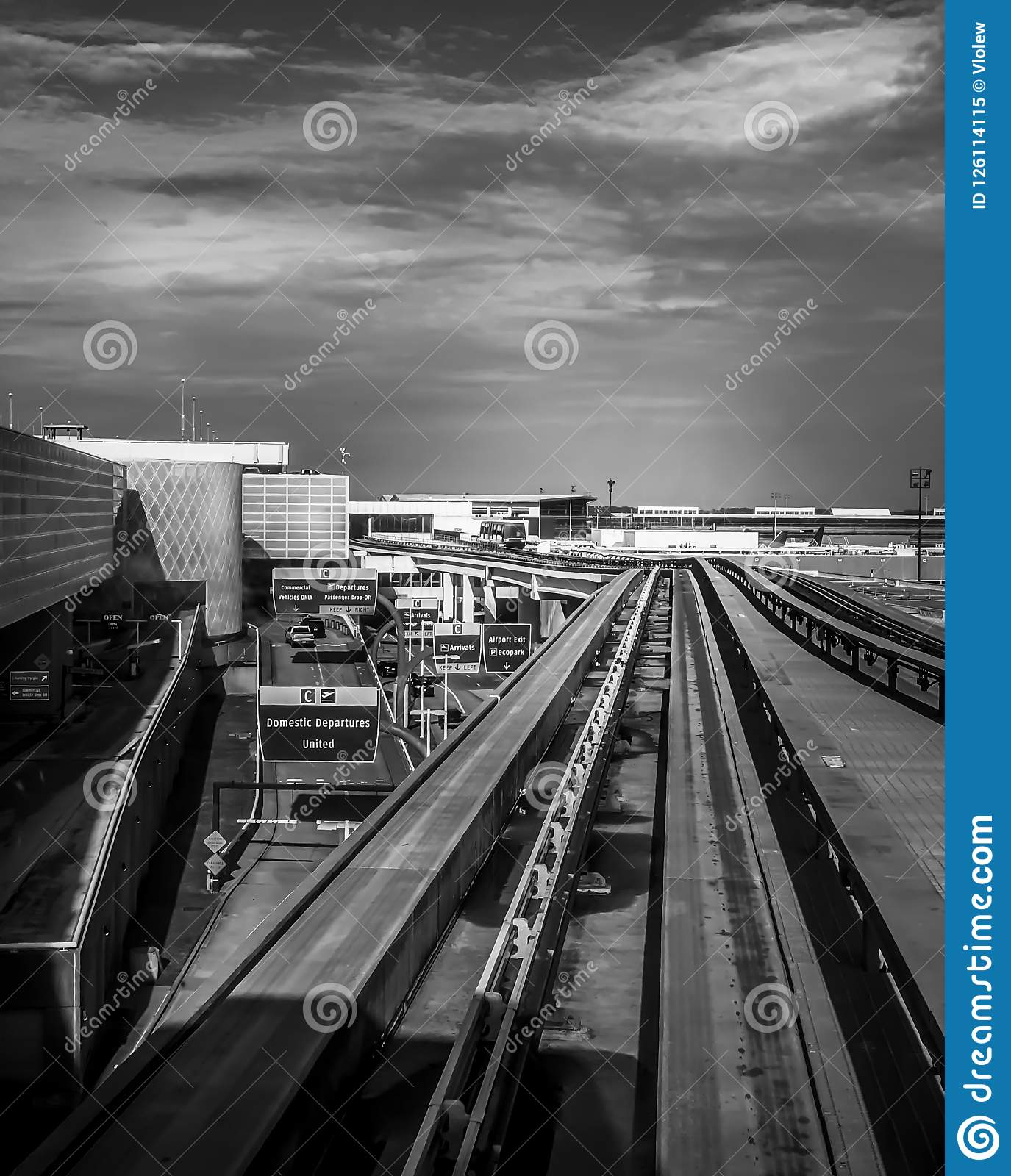 George Bush International Airport In Houston Stock Image Image Of