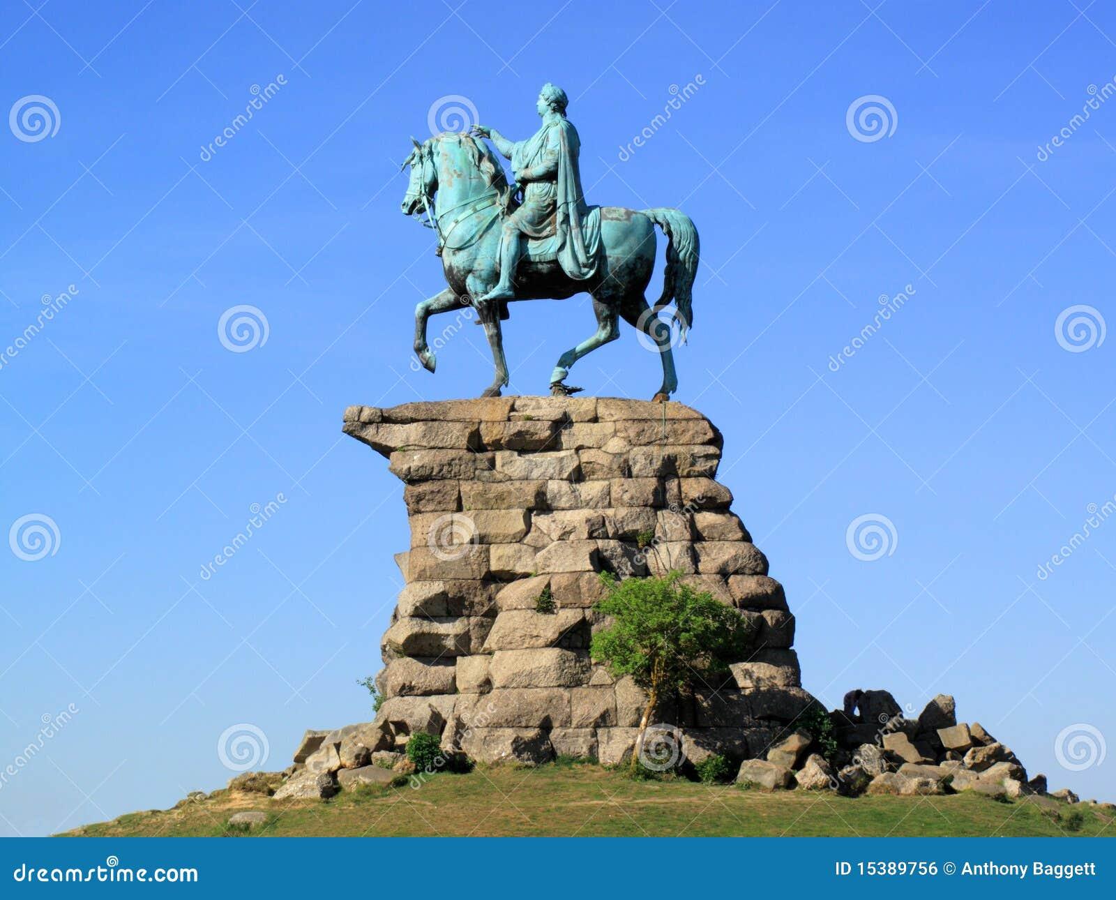 George III Het Kasteel Van Windsor Van Het Standbeeld ? van Het Paard Van Het Koper? Royalty