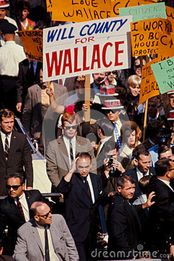 George Wallace Campaigns For President In 1968. Editorial Photo ...