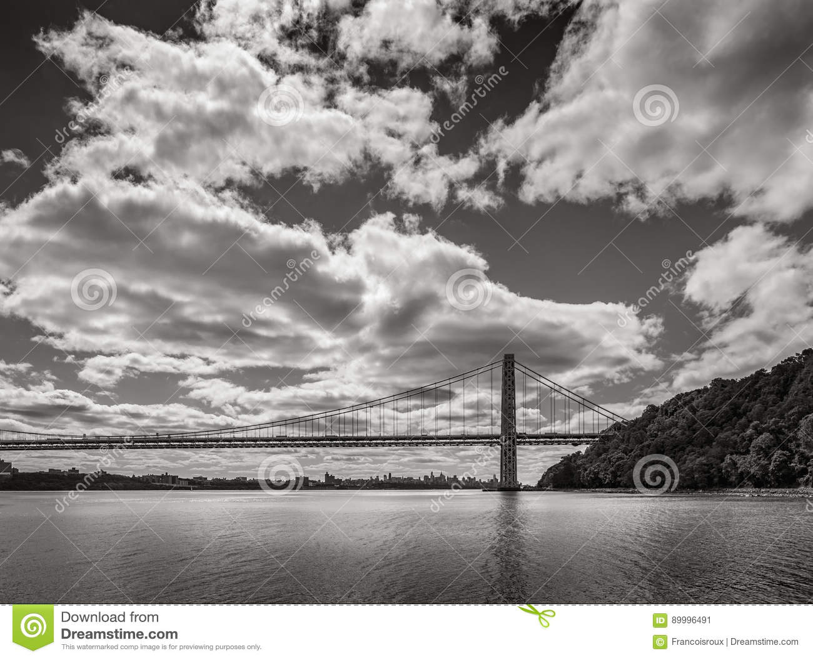 George Washington Bridge and Hudson River. New York City