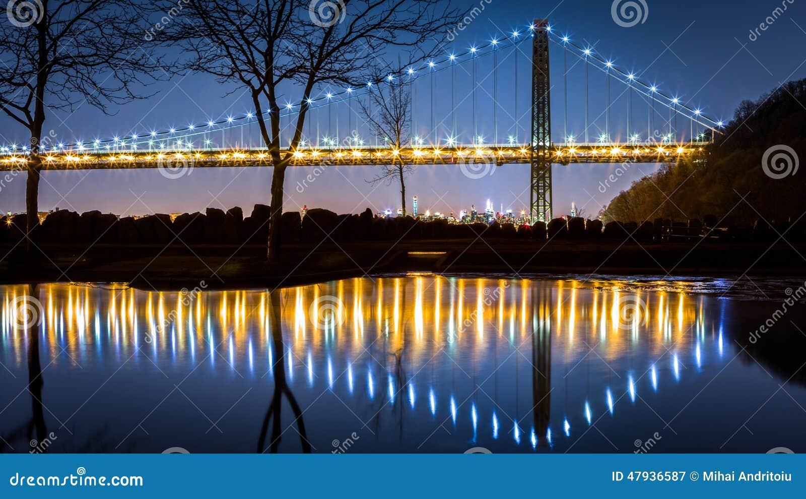 George Washington Bridge by night