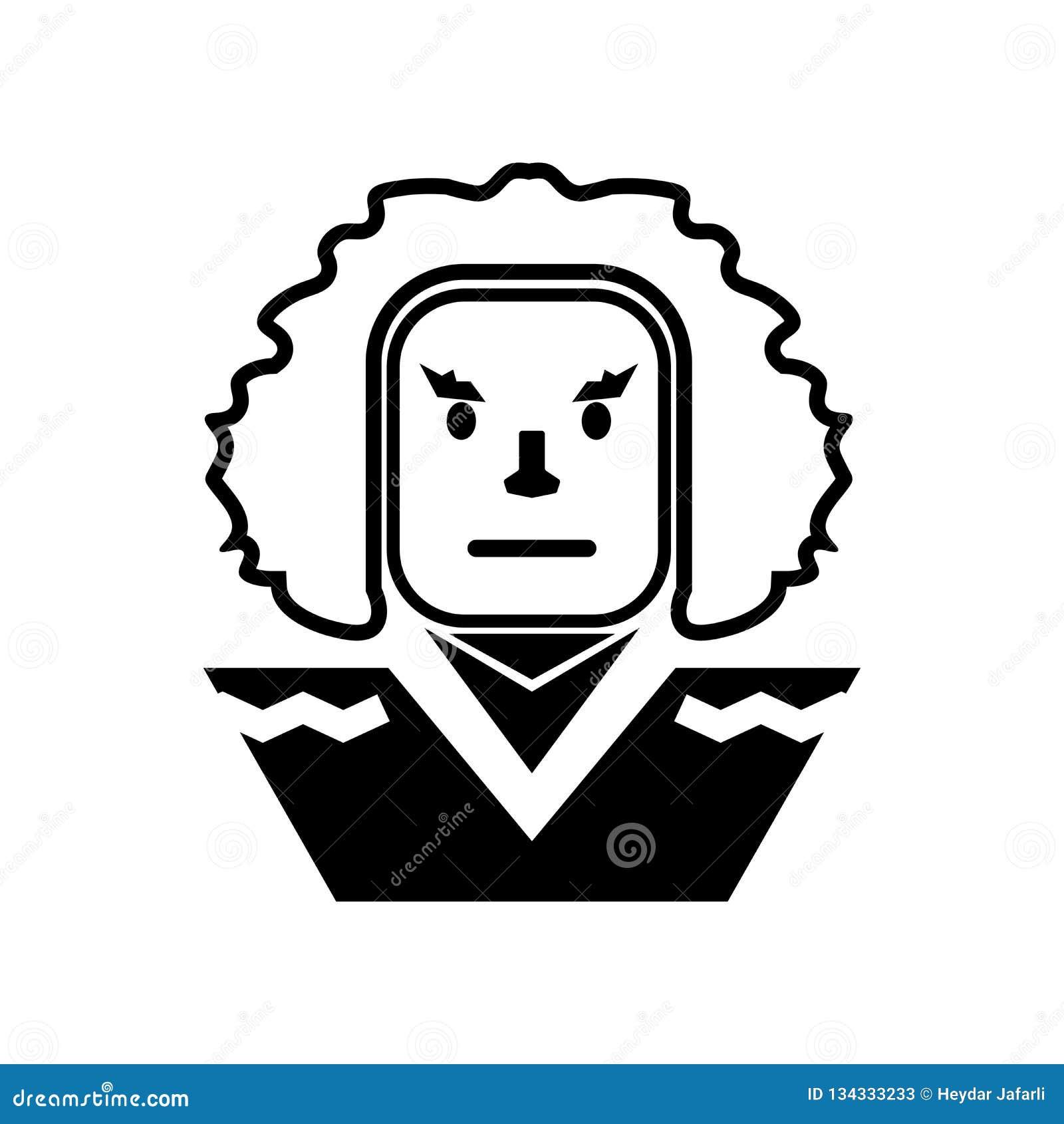 George washington icon vector sign and symbol isolated on white background, George washington logo concept