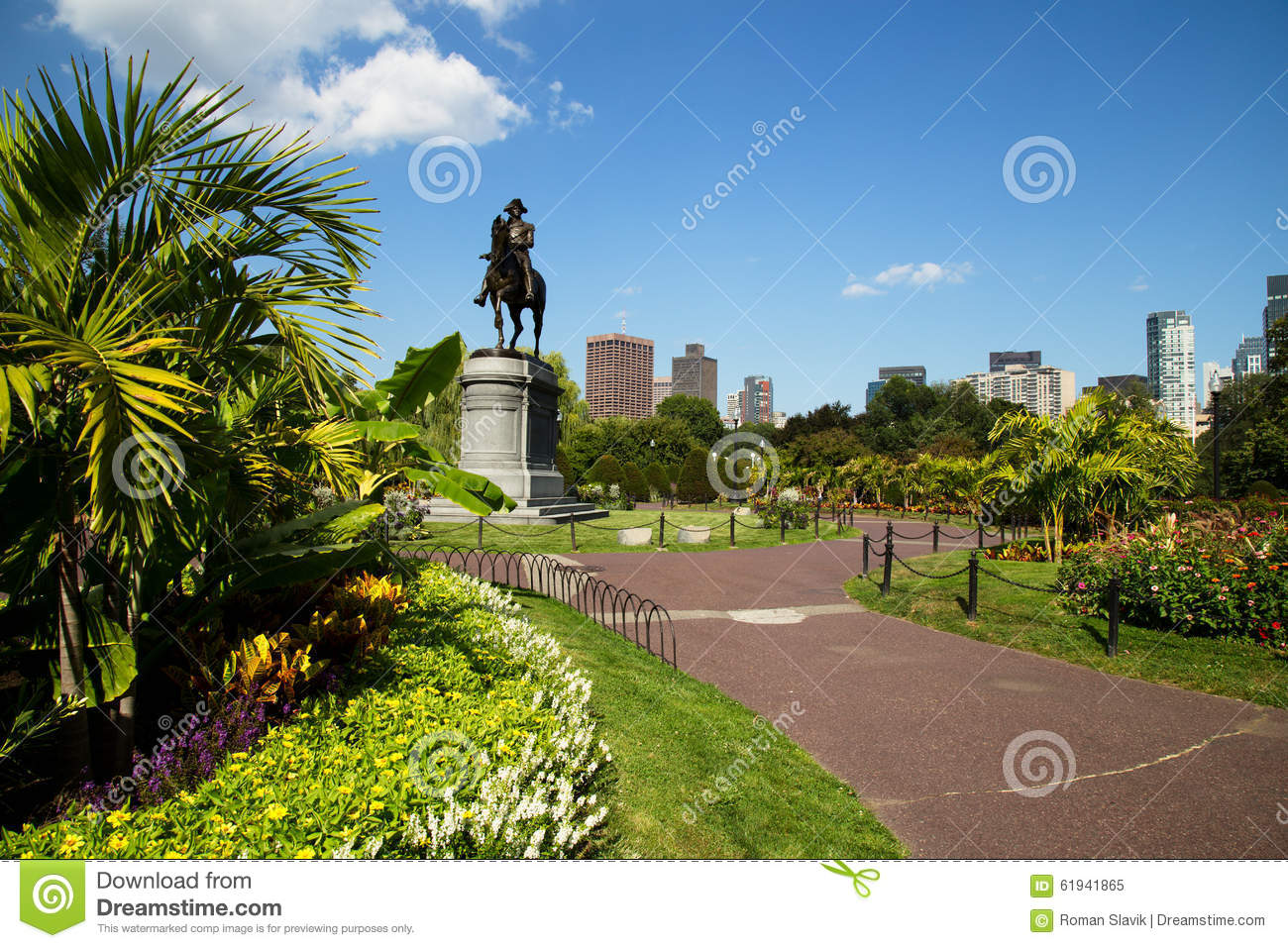George washington statue dans le jardin public de boston for Dans le jardin