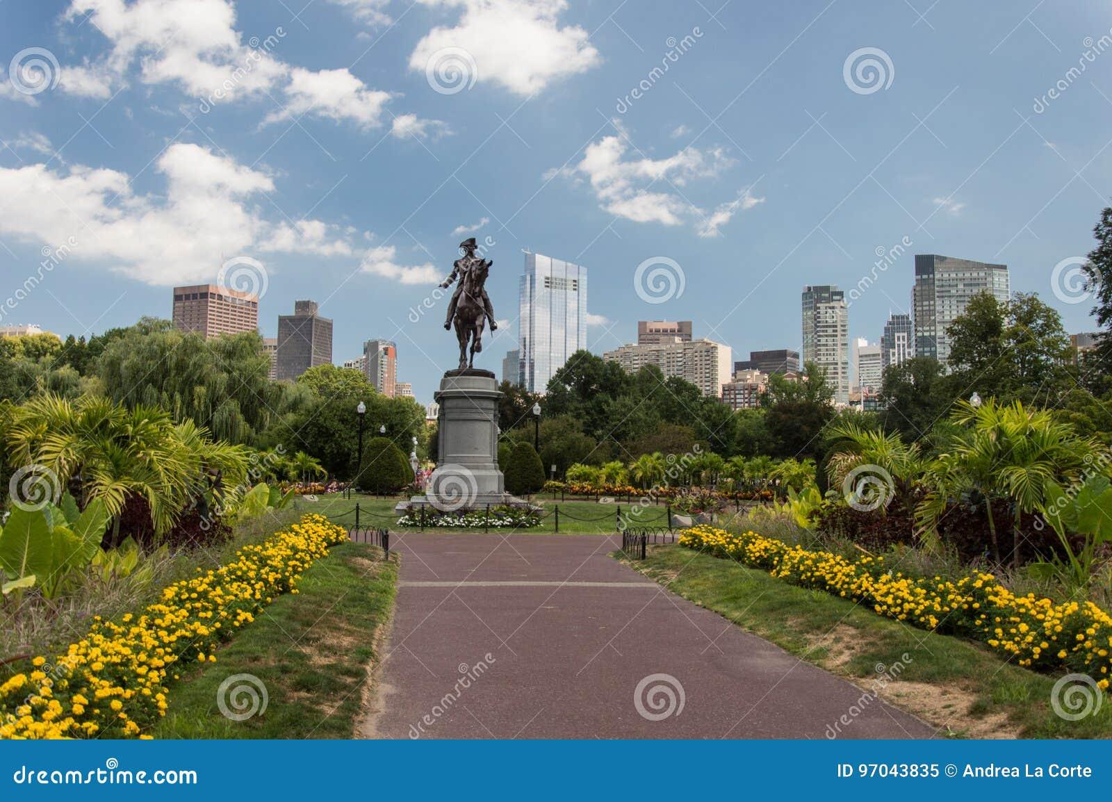 George Washington Statue, jardín público de Boston