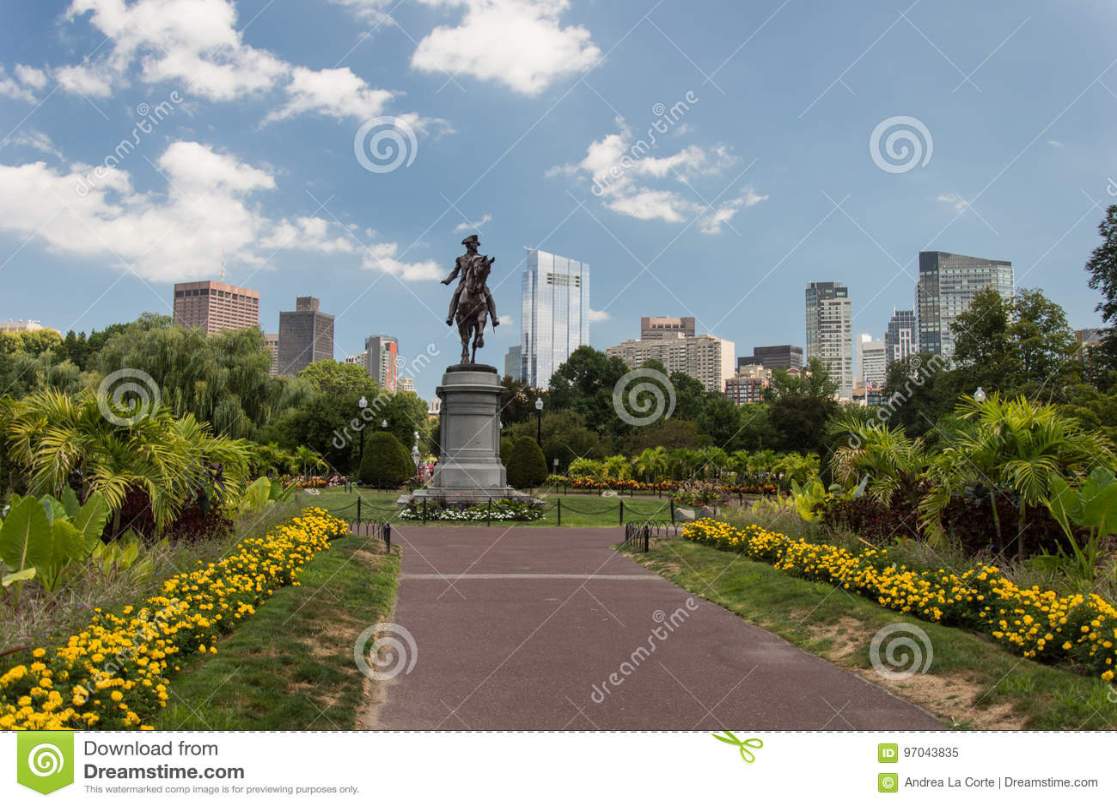 George Washington Statue, jardin public de Boston