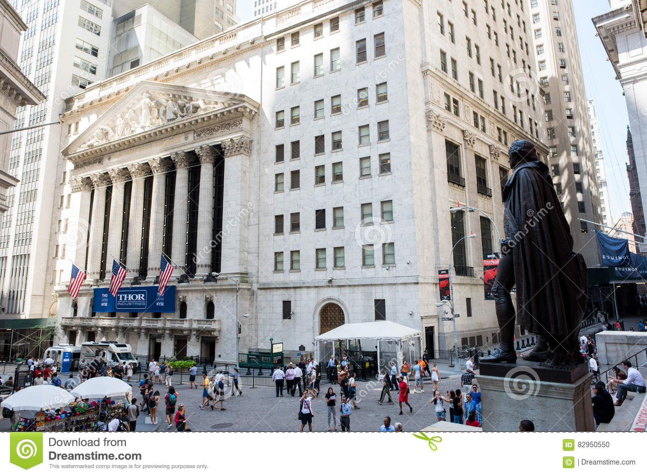f965eb4c New York, NY: August 27, 2016: NYSE on Wall Street. The New York Stock  Exchange NYSE is the largest stock exchange in the world by market cap.