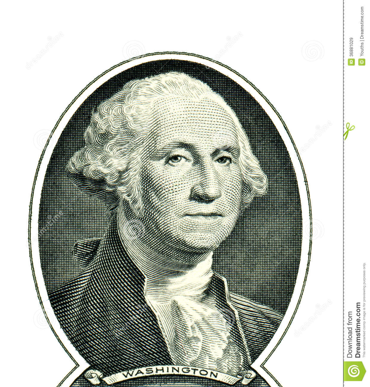 Download George Washington Su Un Dollaro Immagine Stock - Immagine di banca, acquaforte: 36881029