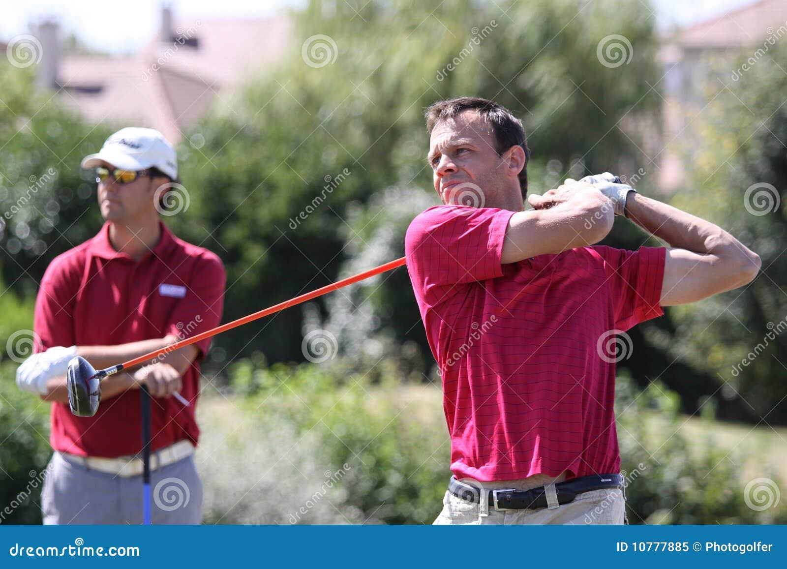Georges Plumet bij het golf Prevens Trpohee 2009