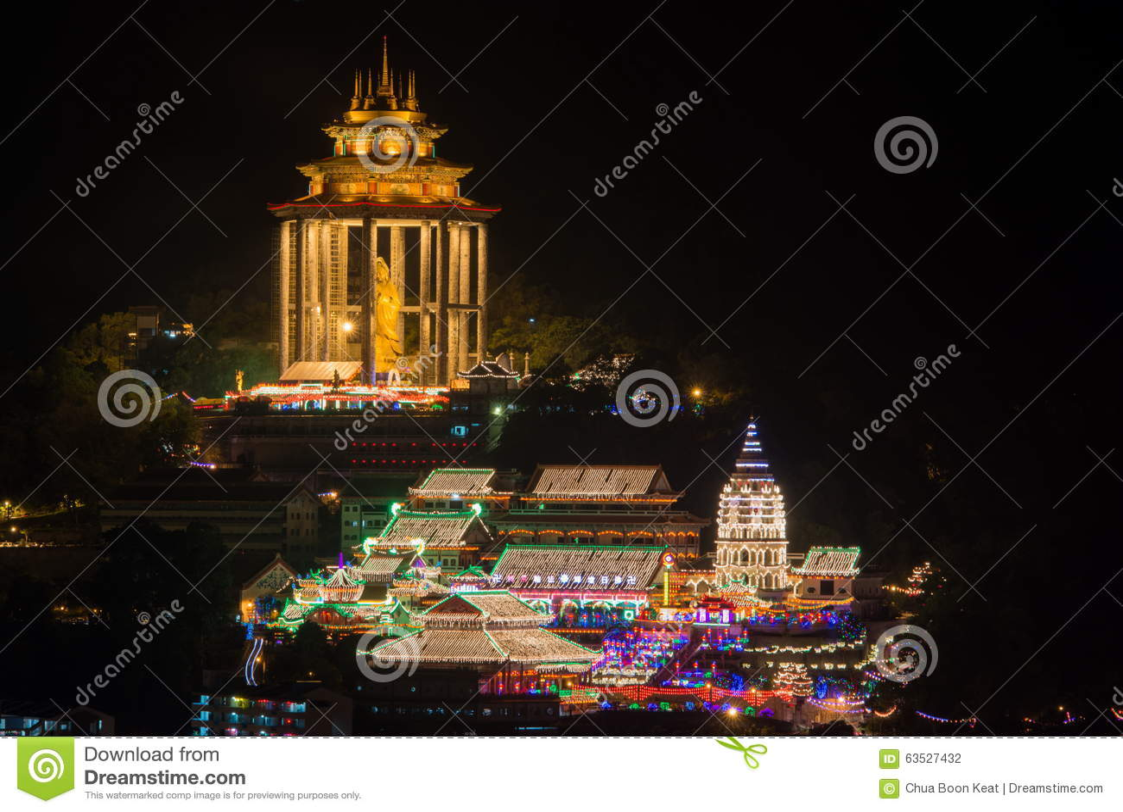 Georgetown Penang tempel Kek Lok Si