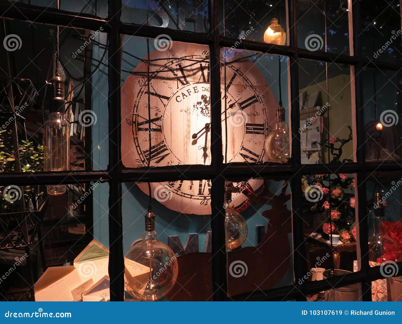 Georgetown Store Window at Night