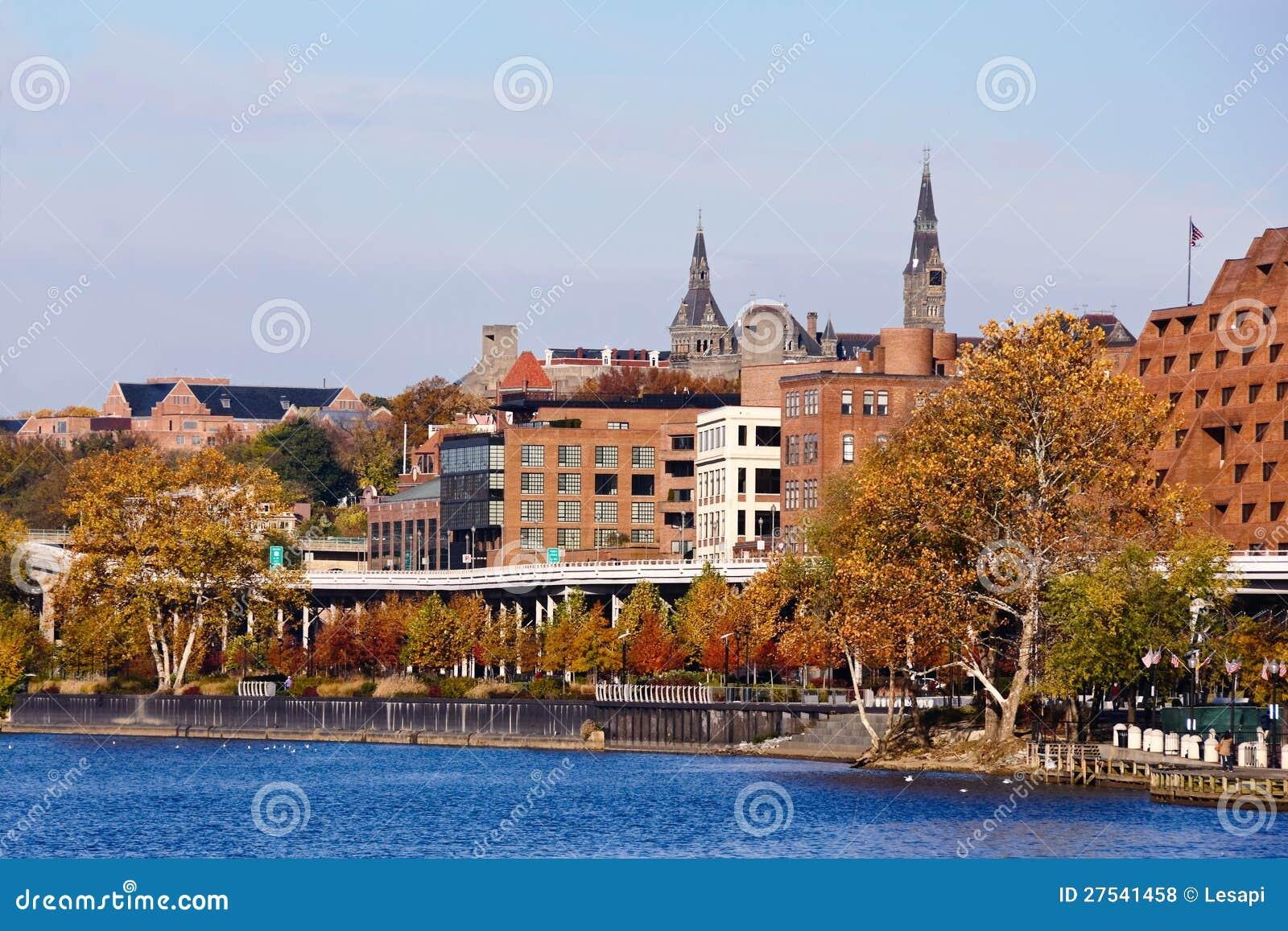 Georgetown Waterfront Park, Washington DC. Royalty Free Stock Photos ...