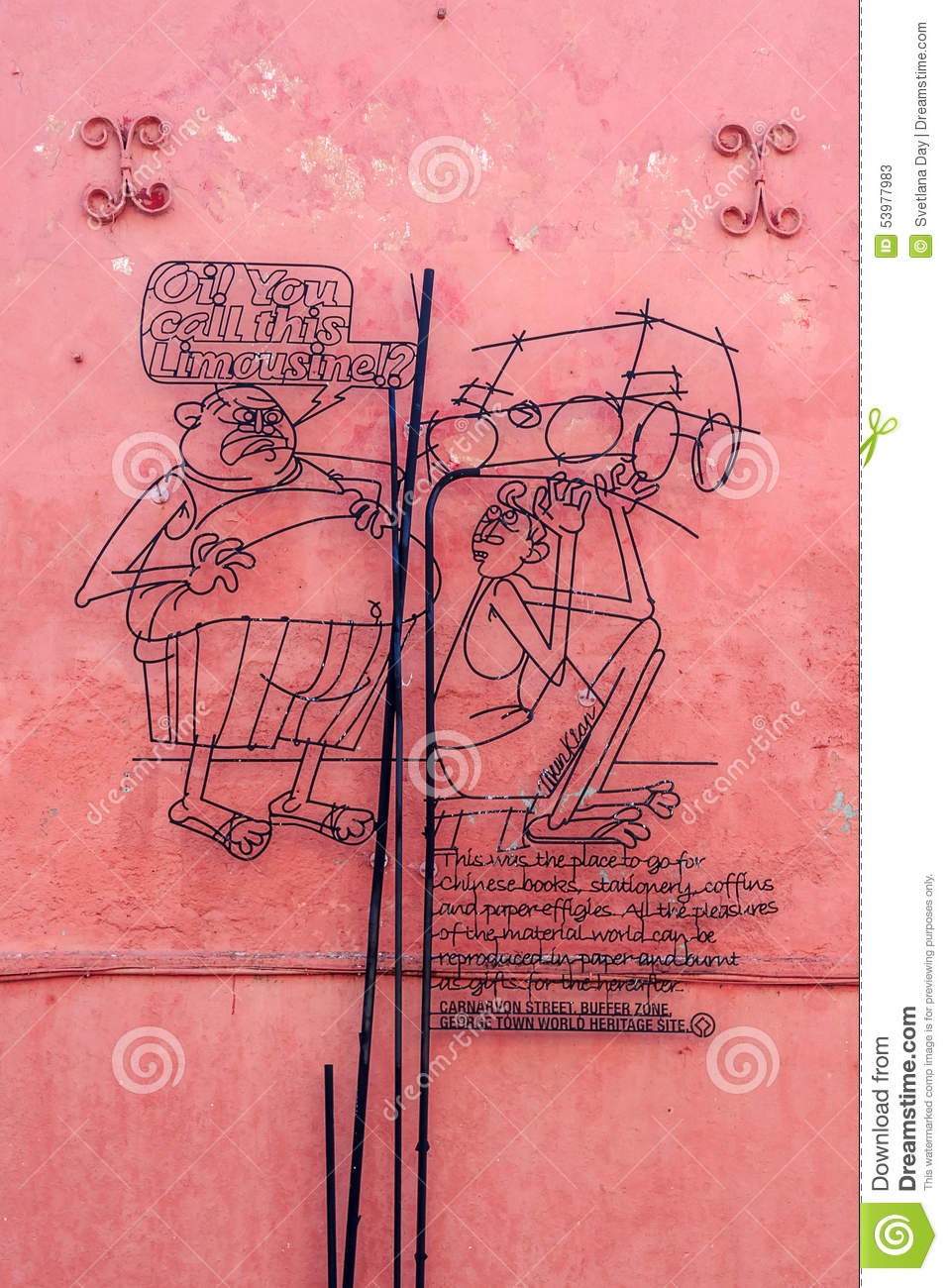 Georgetown Wire Mural Art Editorial Stock Photo Image Of Asian Wiring Malaysia Free Download Diagrams Pictures Preview